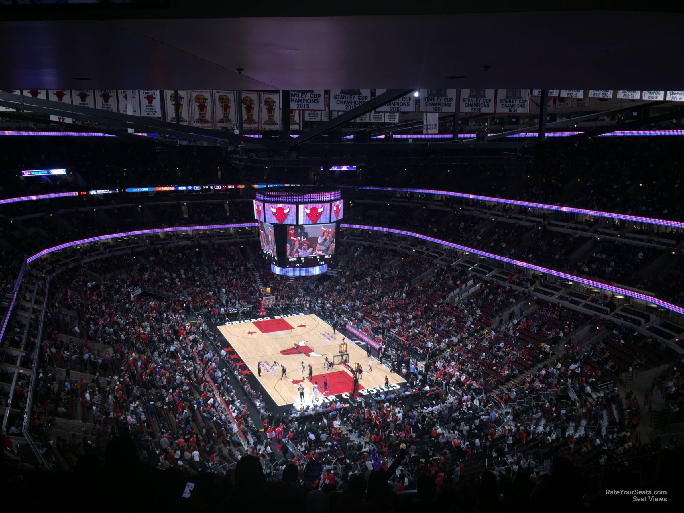 Chicago Bulls Seat View for United Center Section 311, Row 17