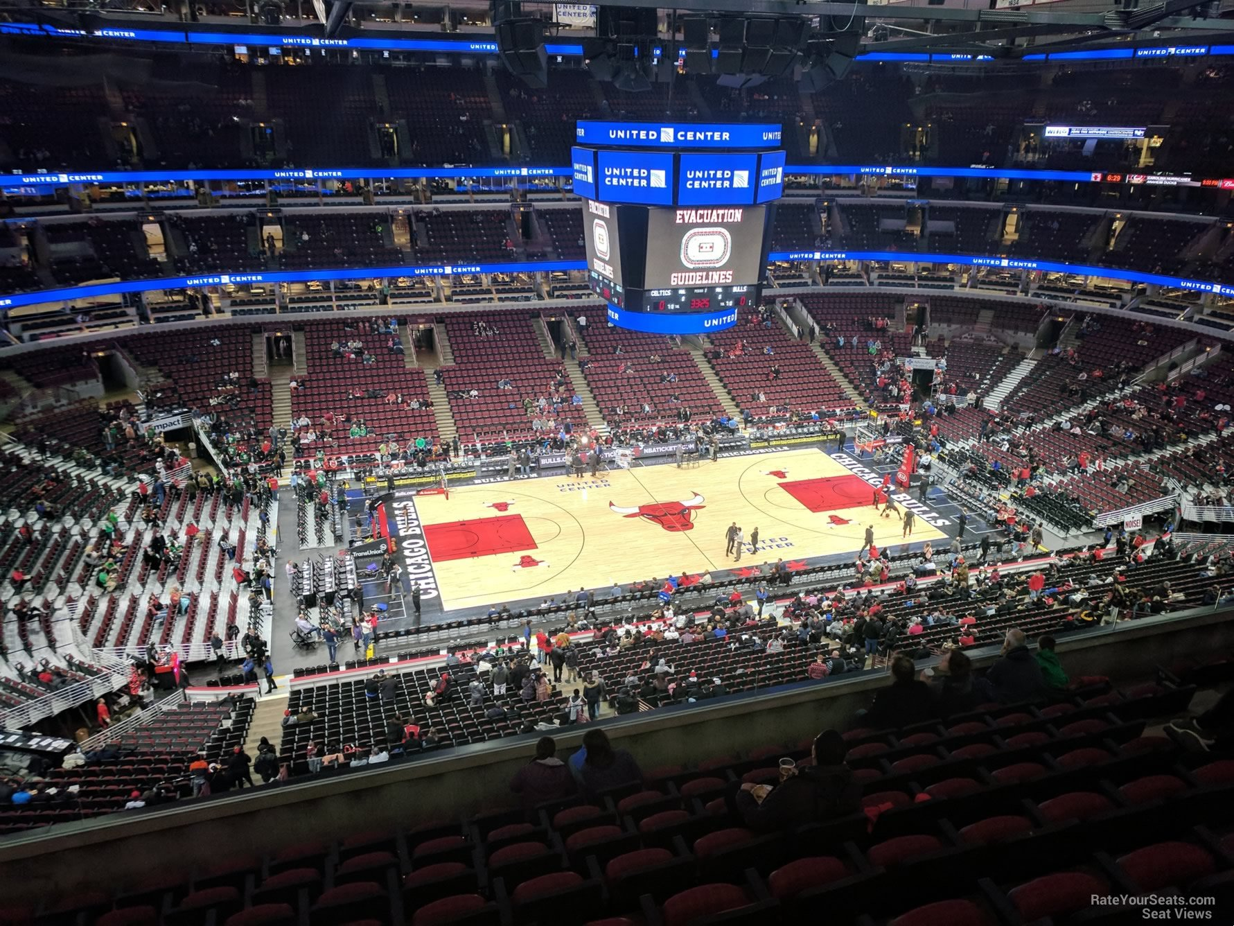 Chicago Bulls Seat View for United Center Section 319, Row 9