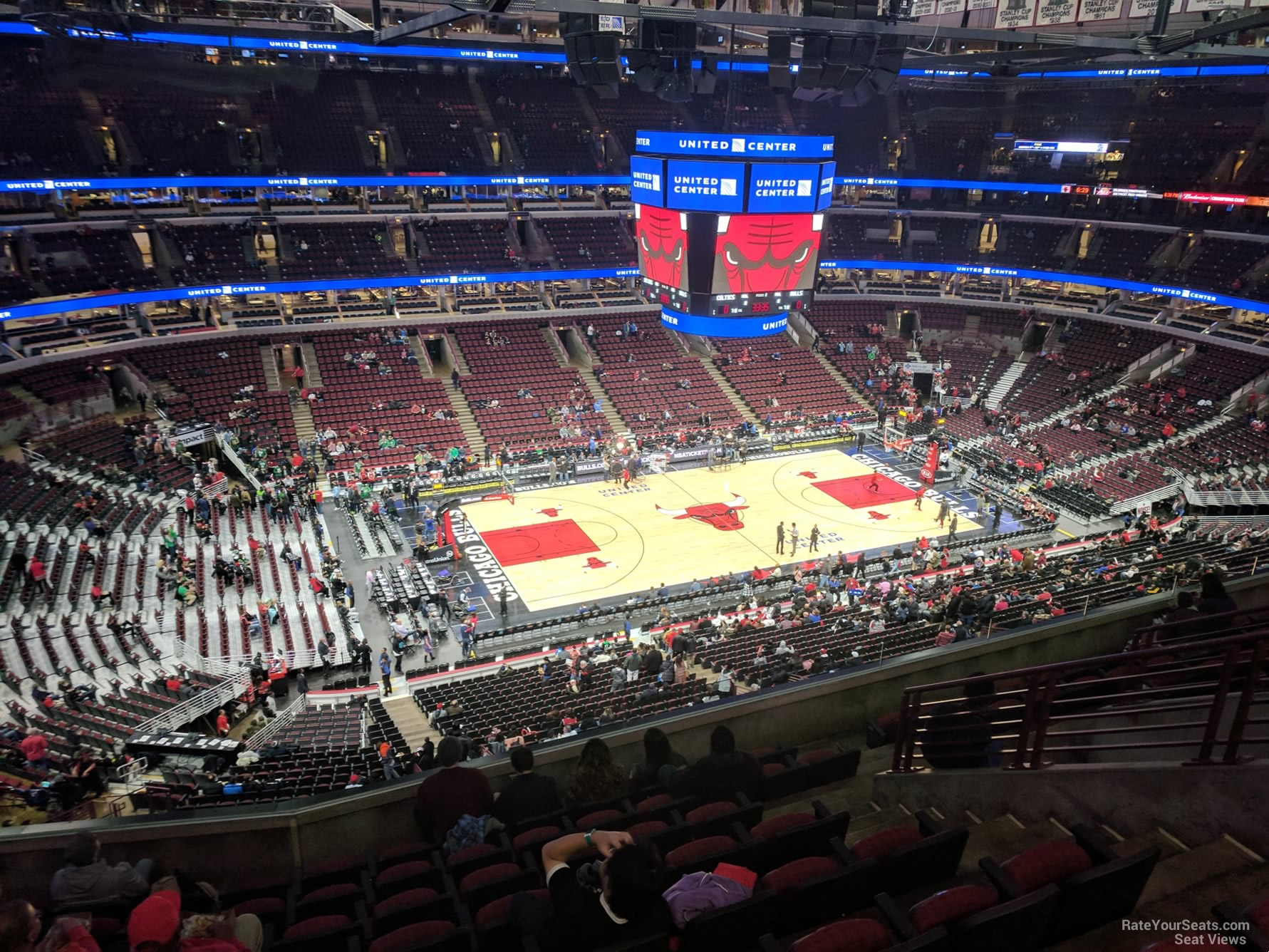 Chicago Bulls Seat View for United Center Section 320, Row 9