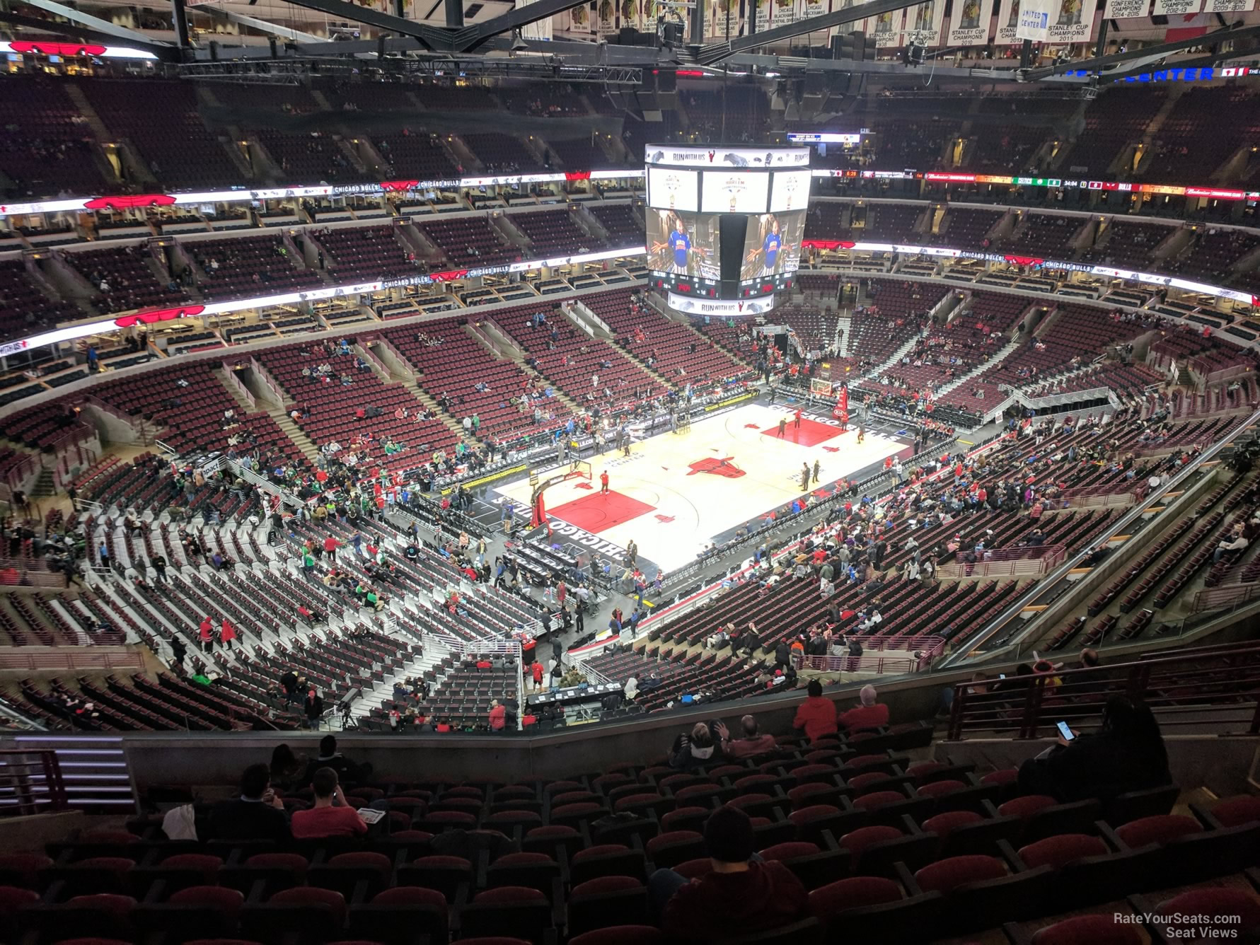 Chicago Bulls Seat View for United Center Section 322, Row 12