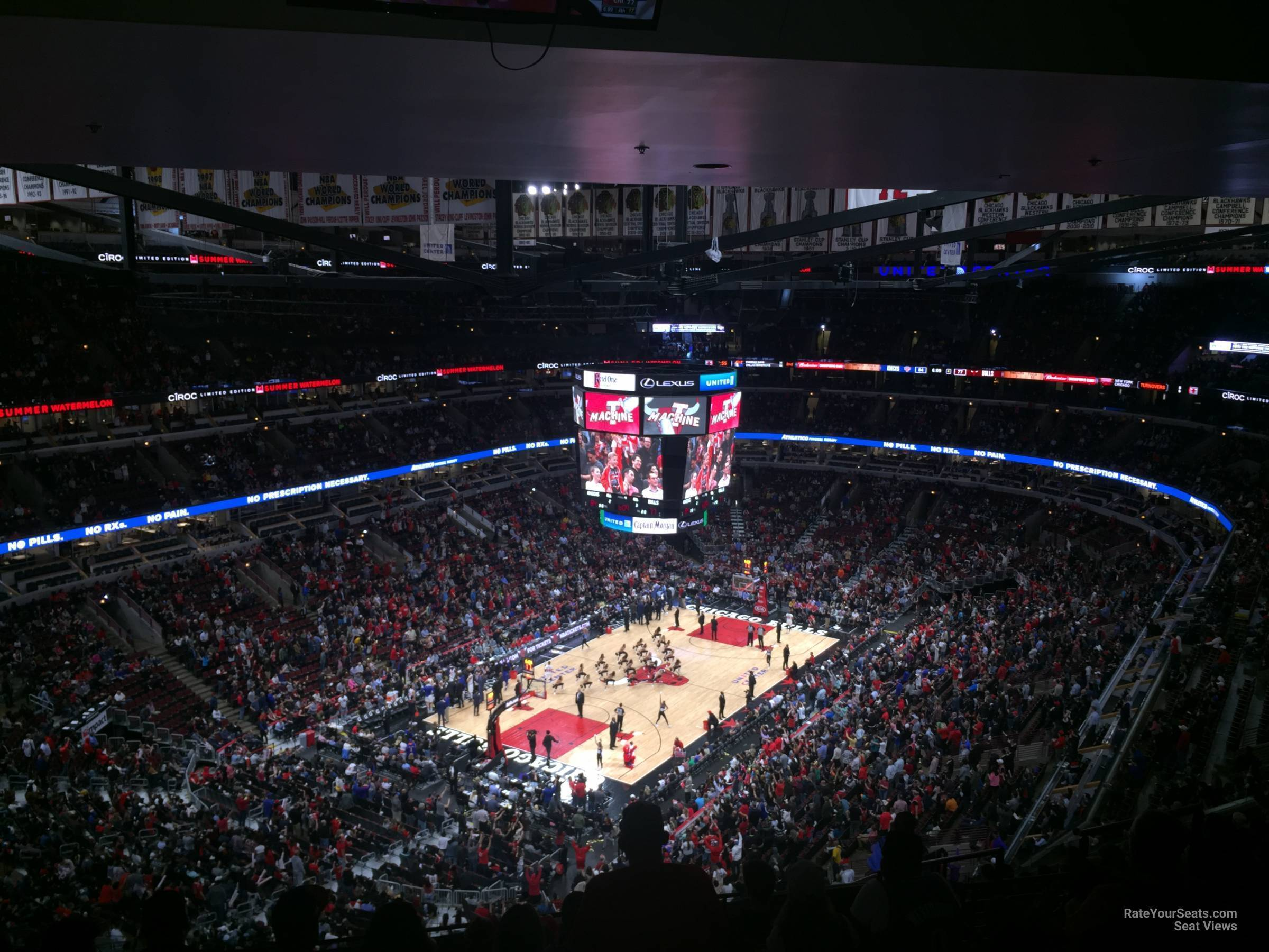 Chicago Bulls Seat View for United Center Section 323, Row 17