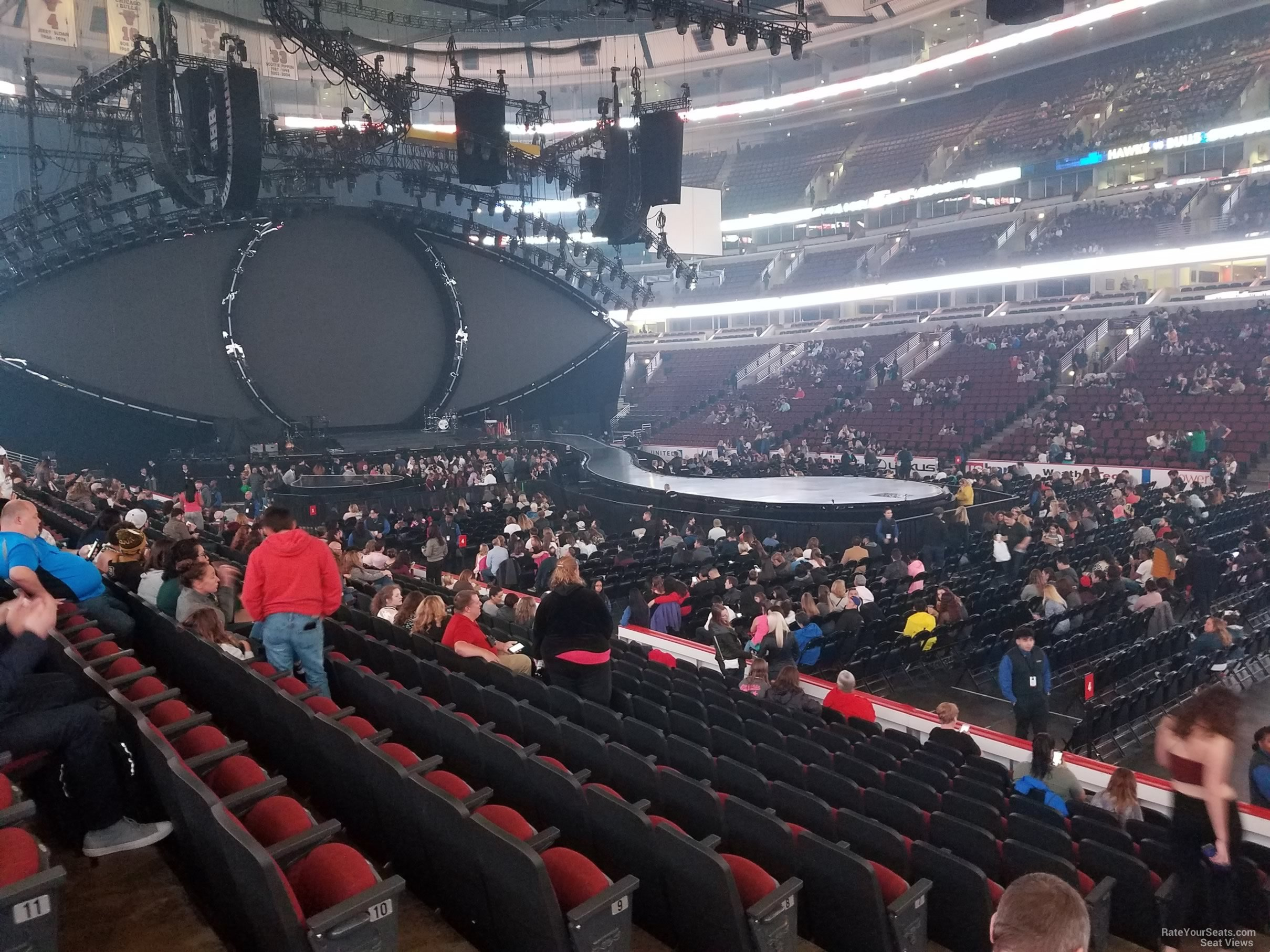 united center section 109 concert seating rateyourseats com