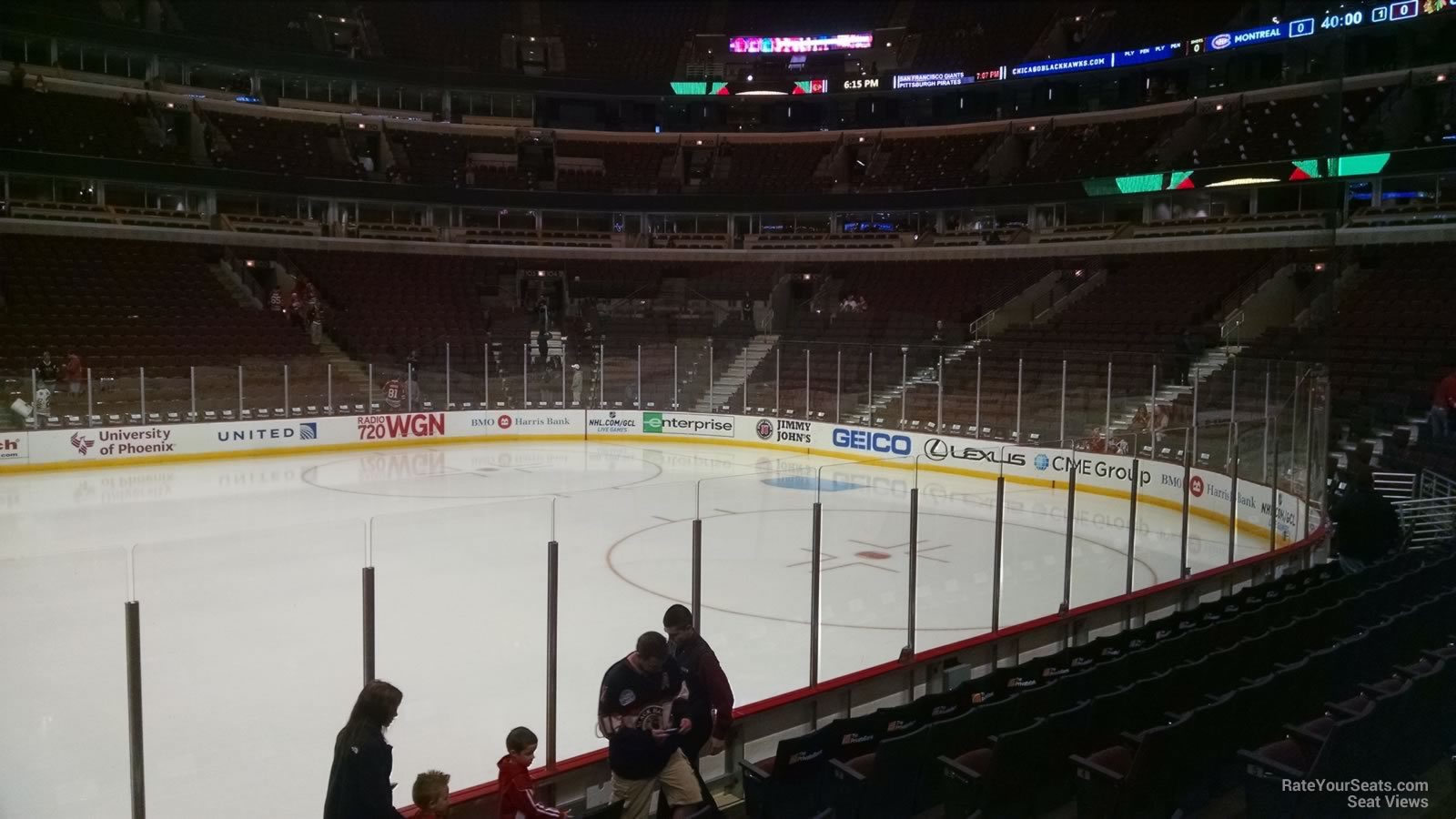 chicago blackhawks seat view for united center section 111