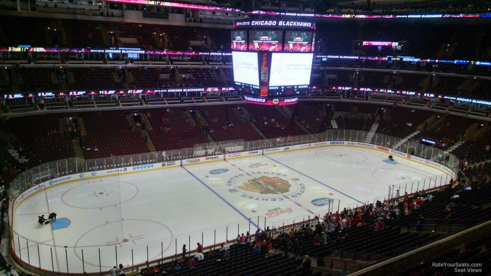 View from Section 303 at United Center