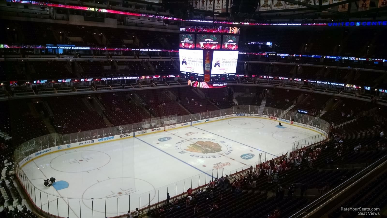 Chicago Blackhawks Seat View For United Center Section 304
