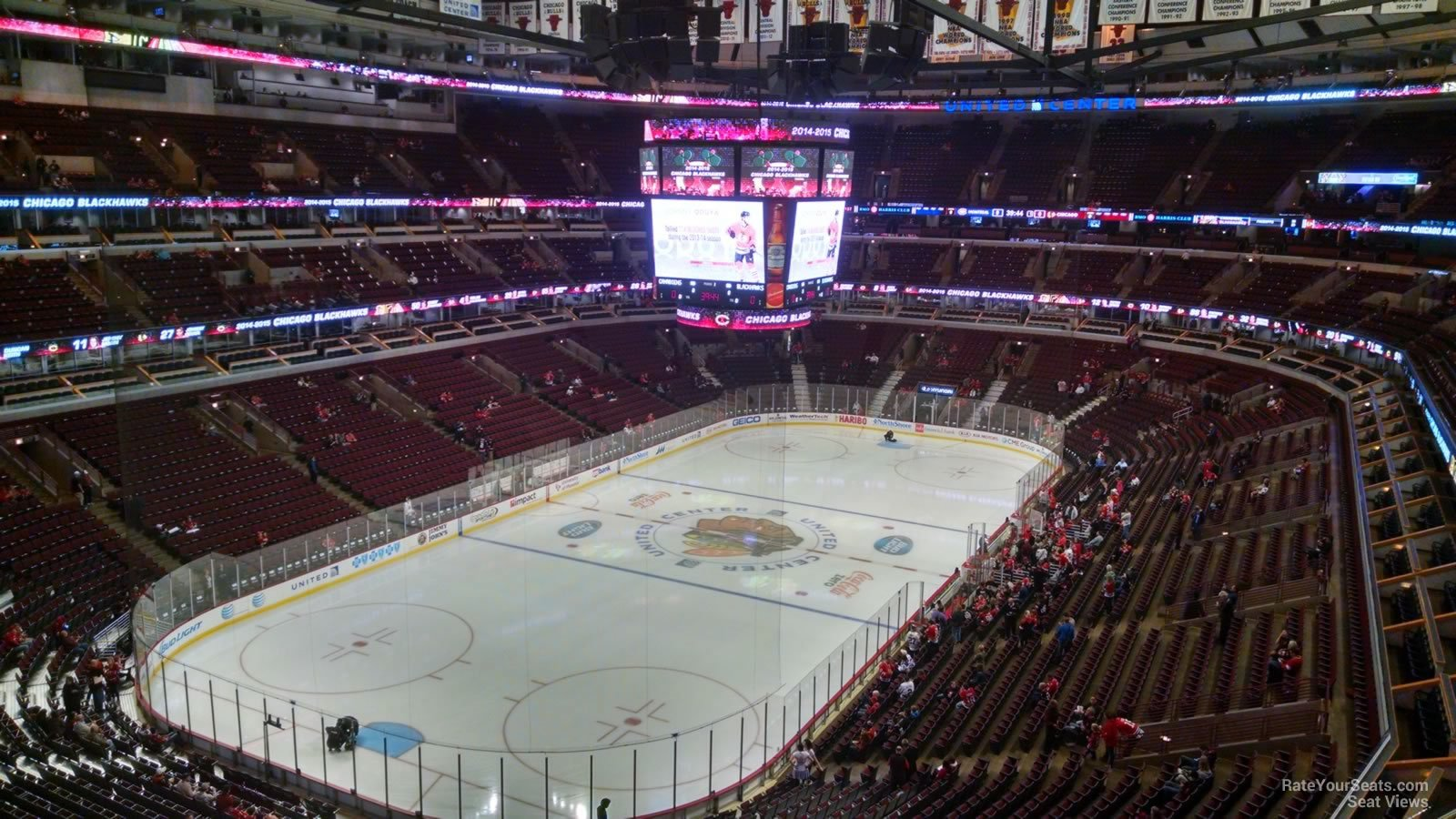 Chicago Blackhawks Seat View For United Center Section 306