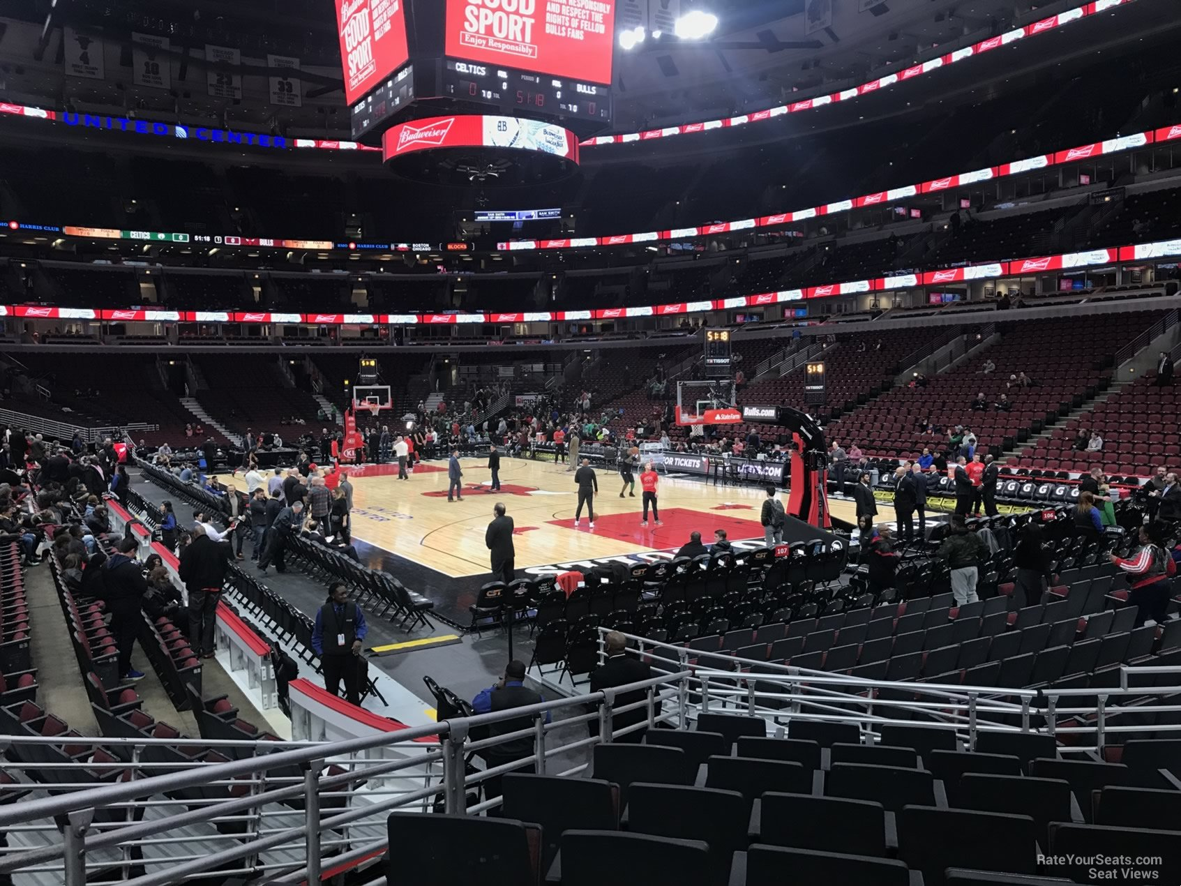 Section 107 at United Center - Chicago Bulls ...