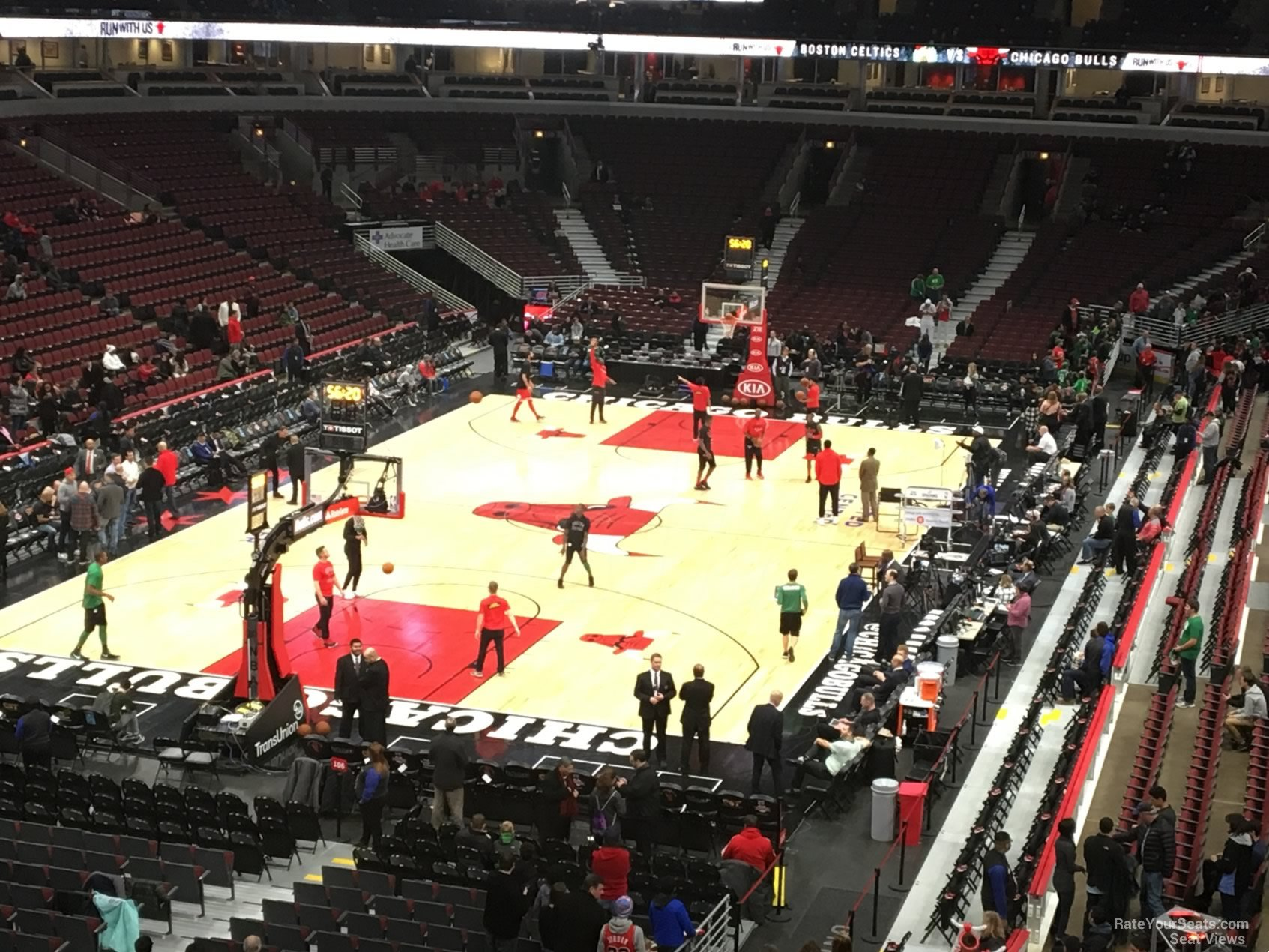 Chicago Bulls Seat View for United Center Section 207, Row 4