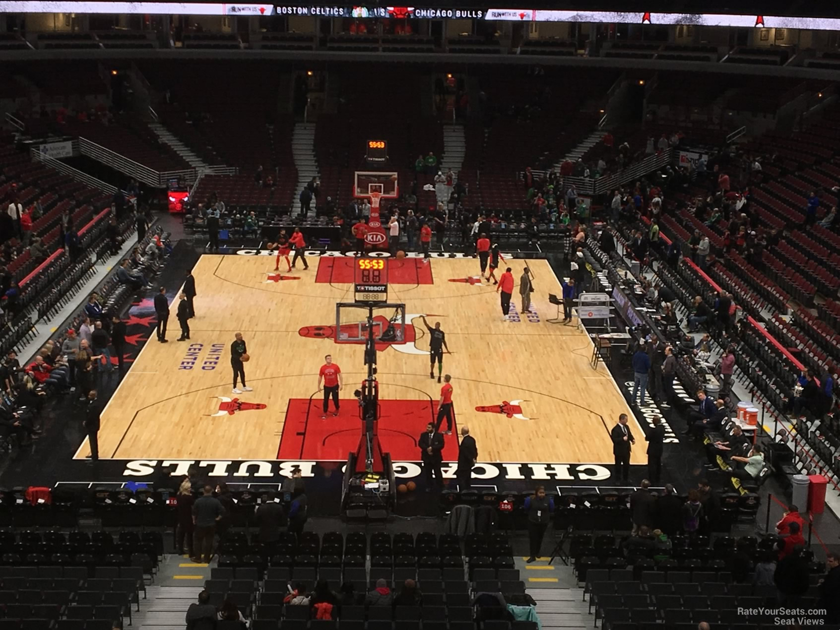 Chicago Bulls Seat View for United Center Section 209, Row 4