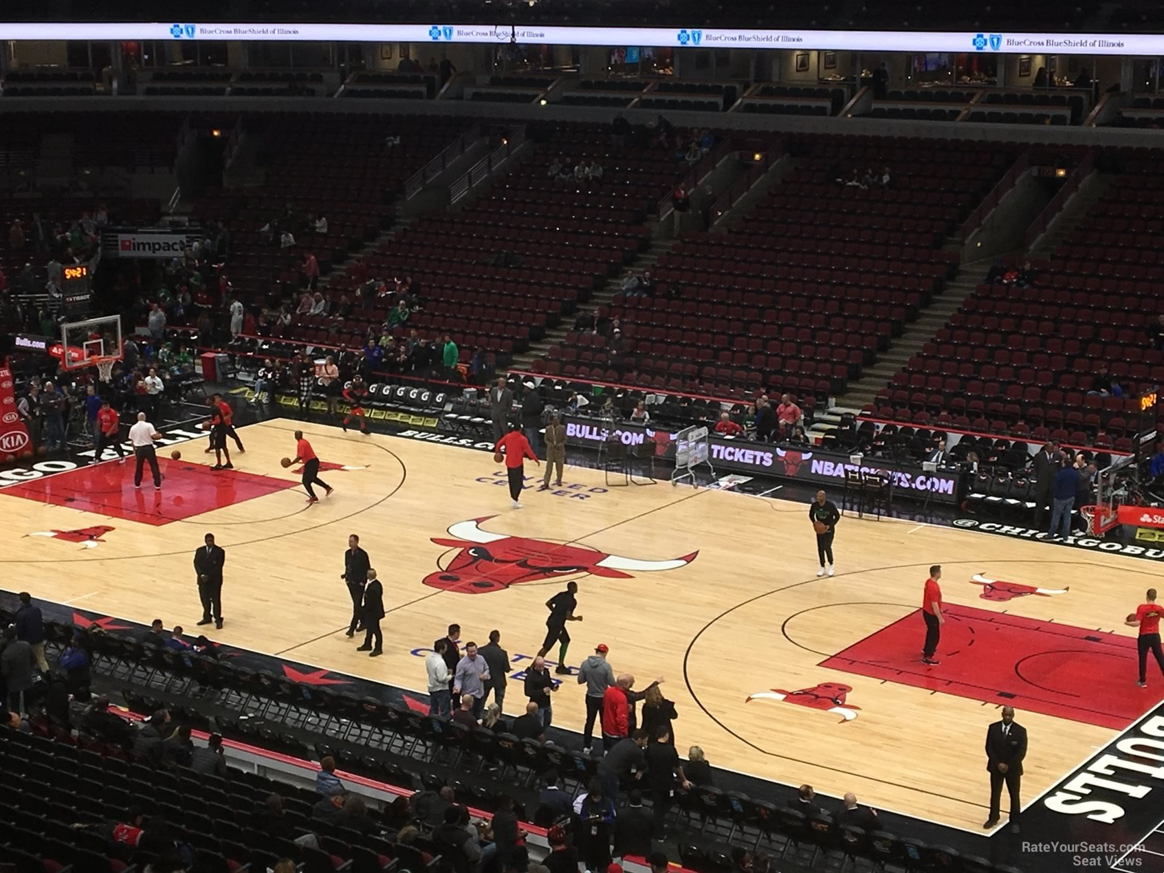 Chicago Bulls Seat View for United Center Section 215, Row 4