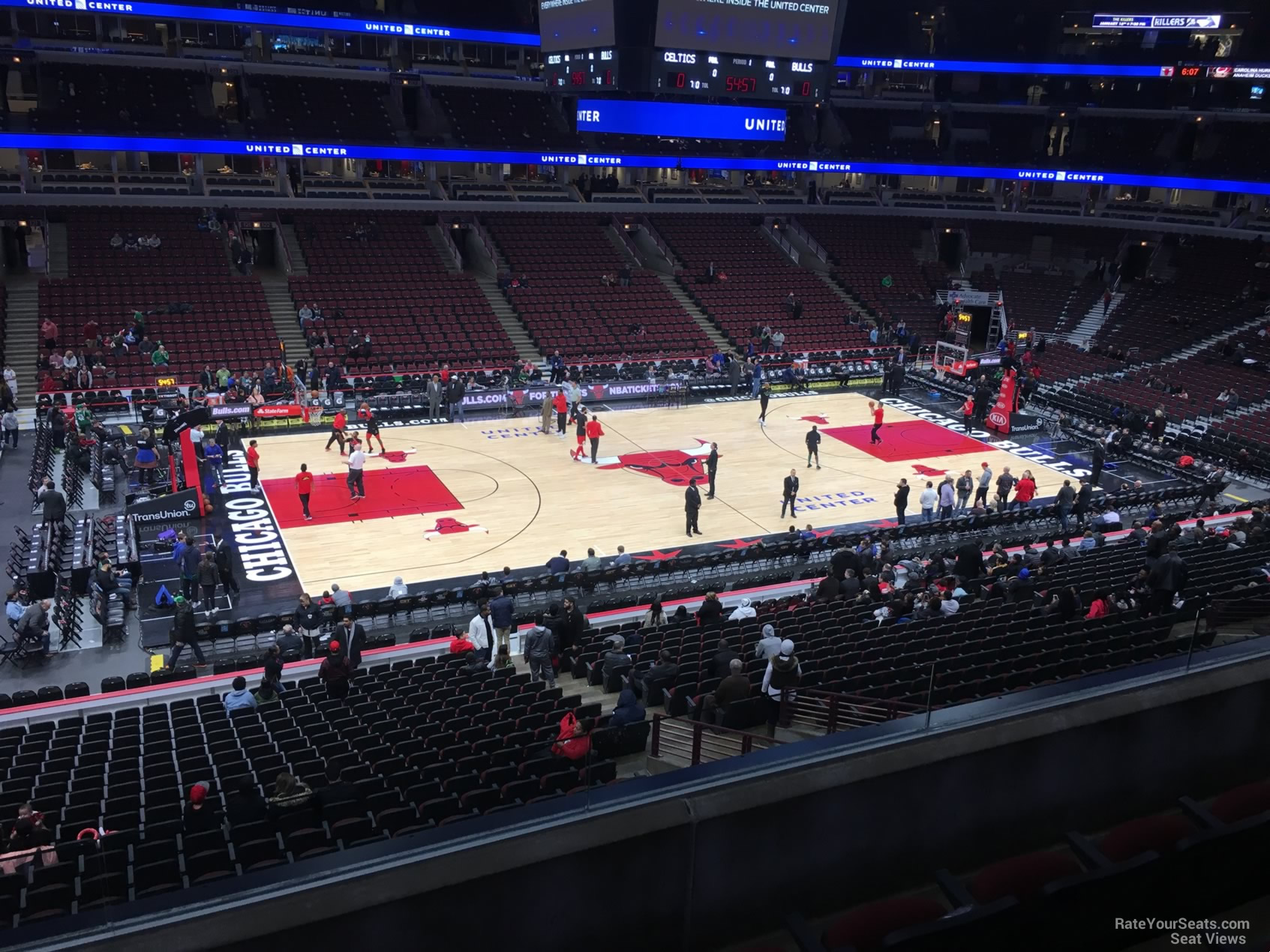 Chicago Bulls Seat View for United Center Section 219, Row 4