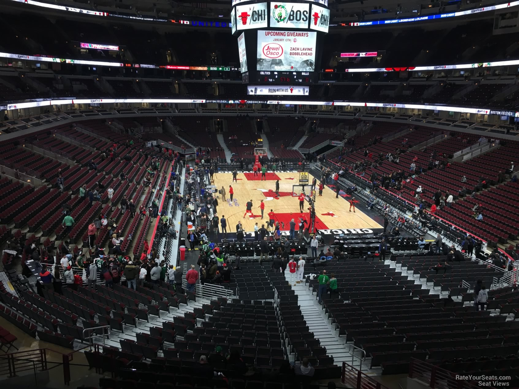 Chicago Bulls Seat View for United Center Section 227, Row 4