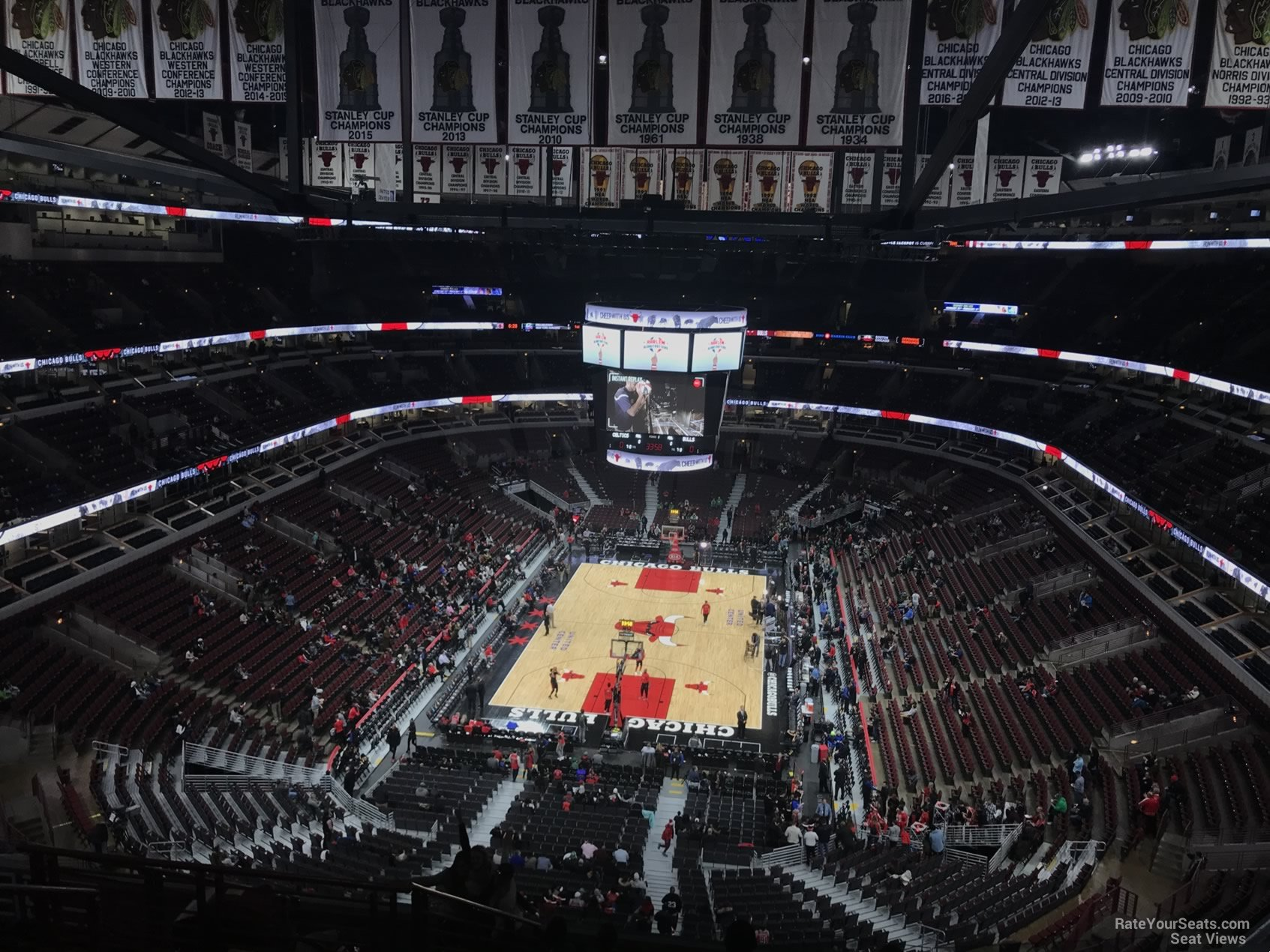 Chicago Bulls Seat View for United Center Section 308, Row 13
