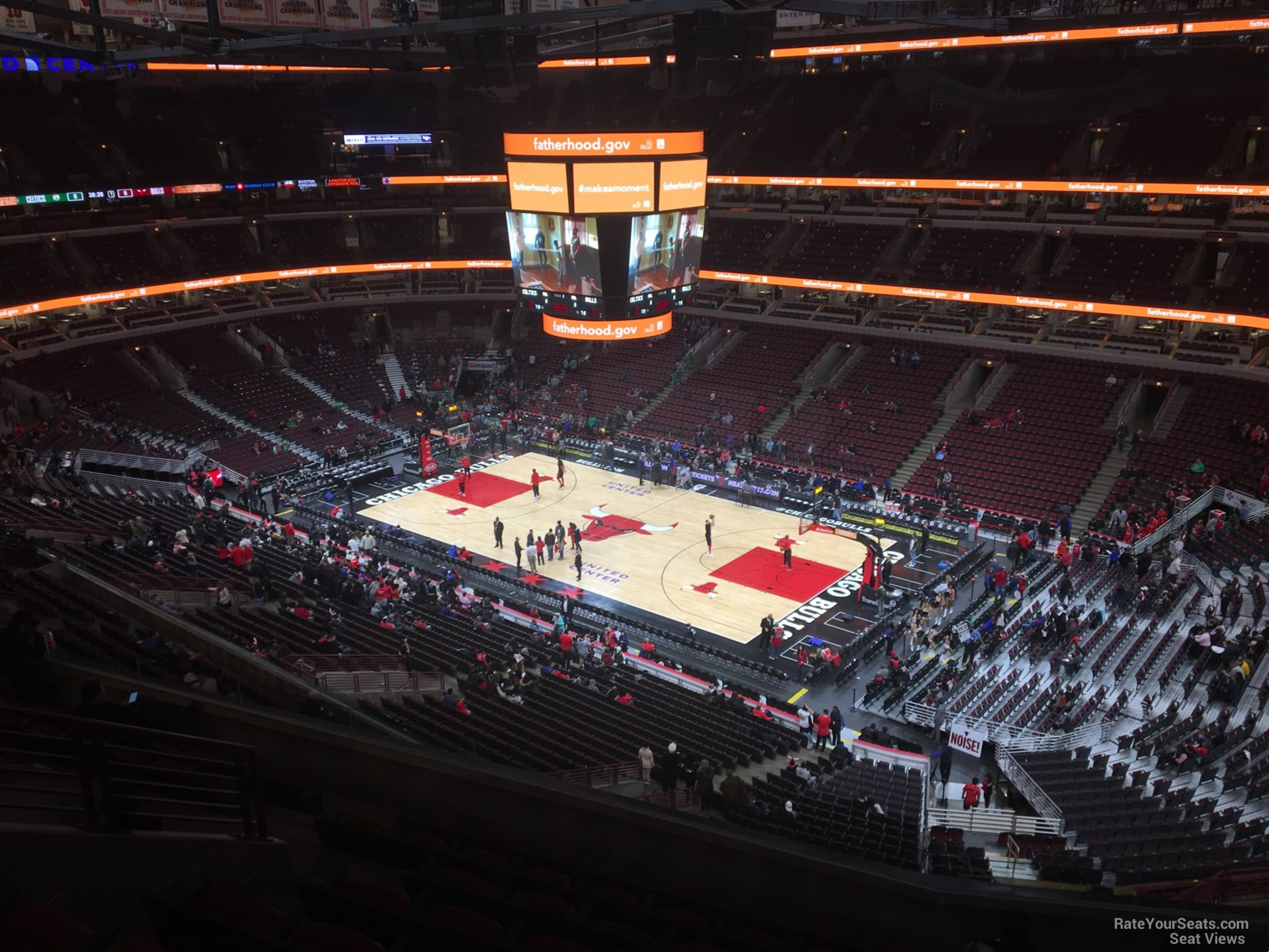 United Center Section 314 Row 8 on 12 11 2017rys