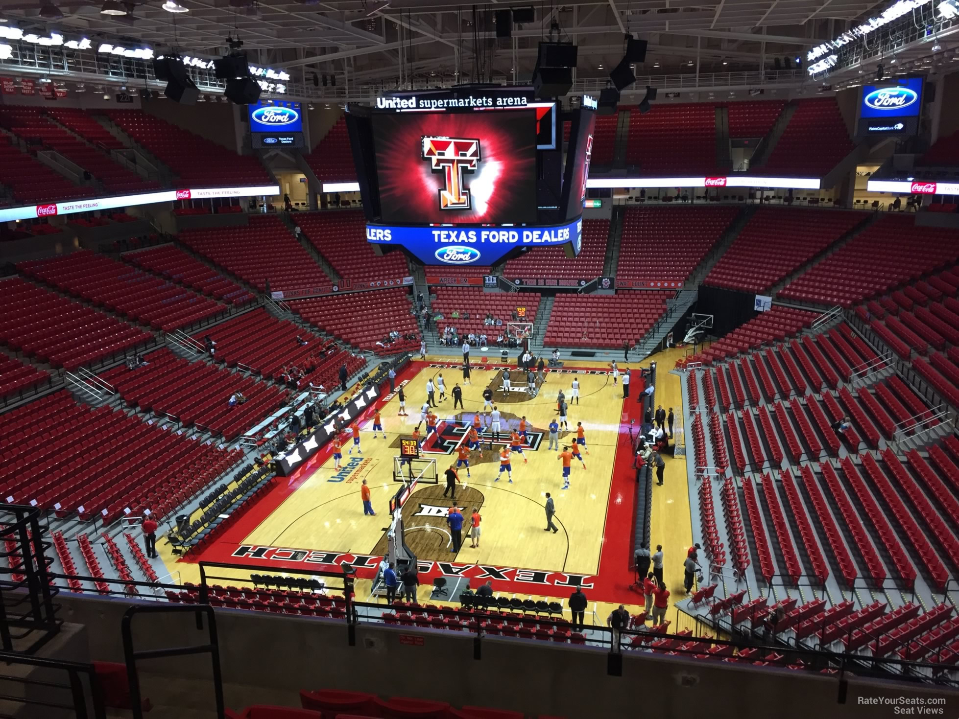 Seat View For United Supermarkets Arena Section 208 Row 7