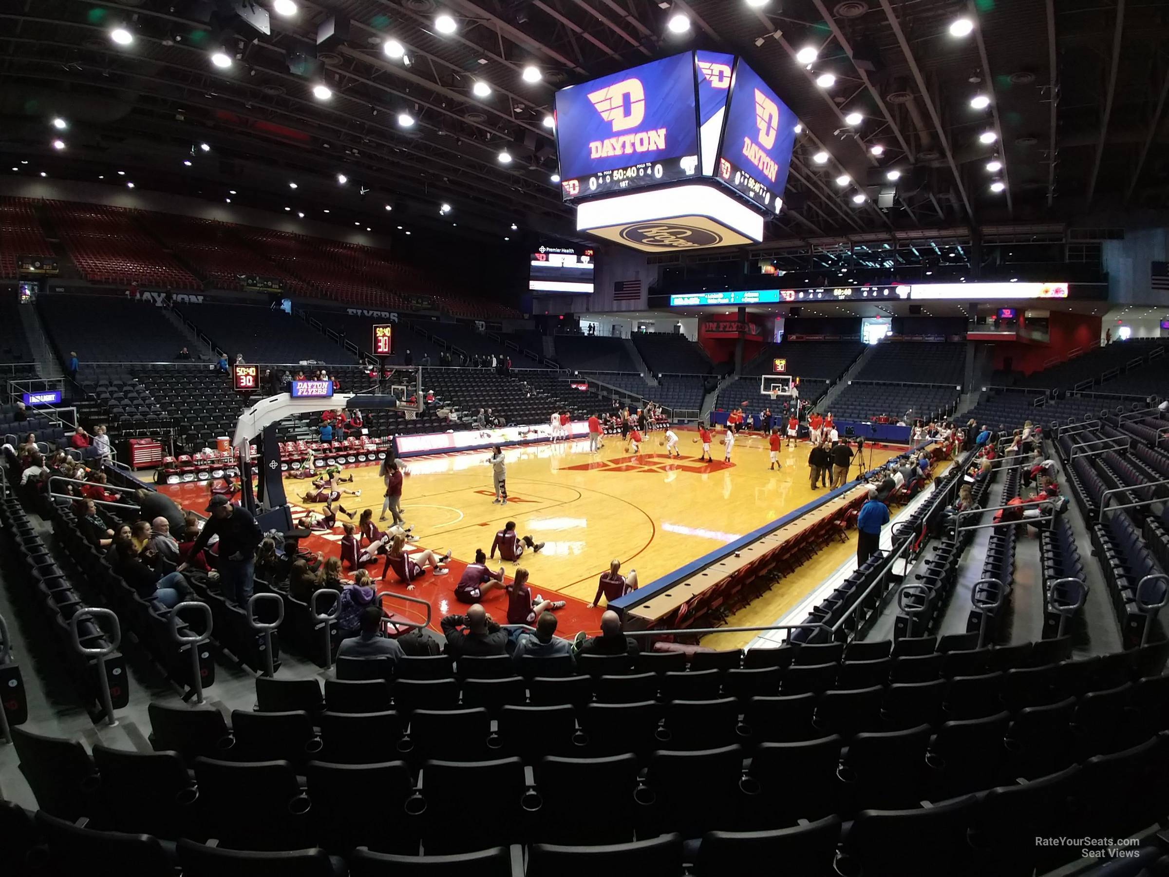 Seat View for University of Dayton Arena Section 115, Row J