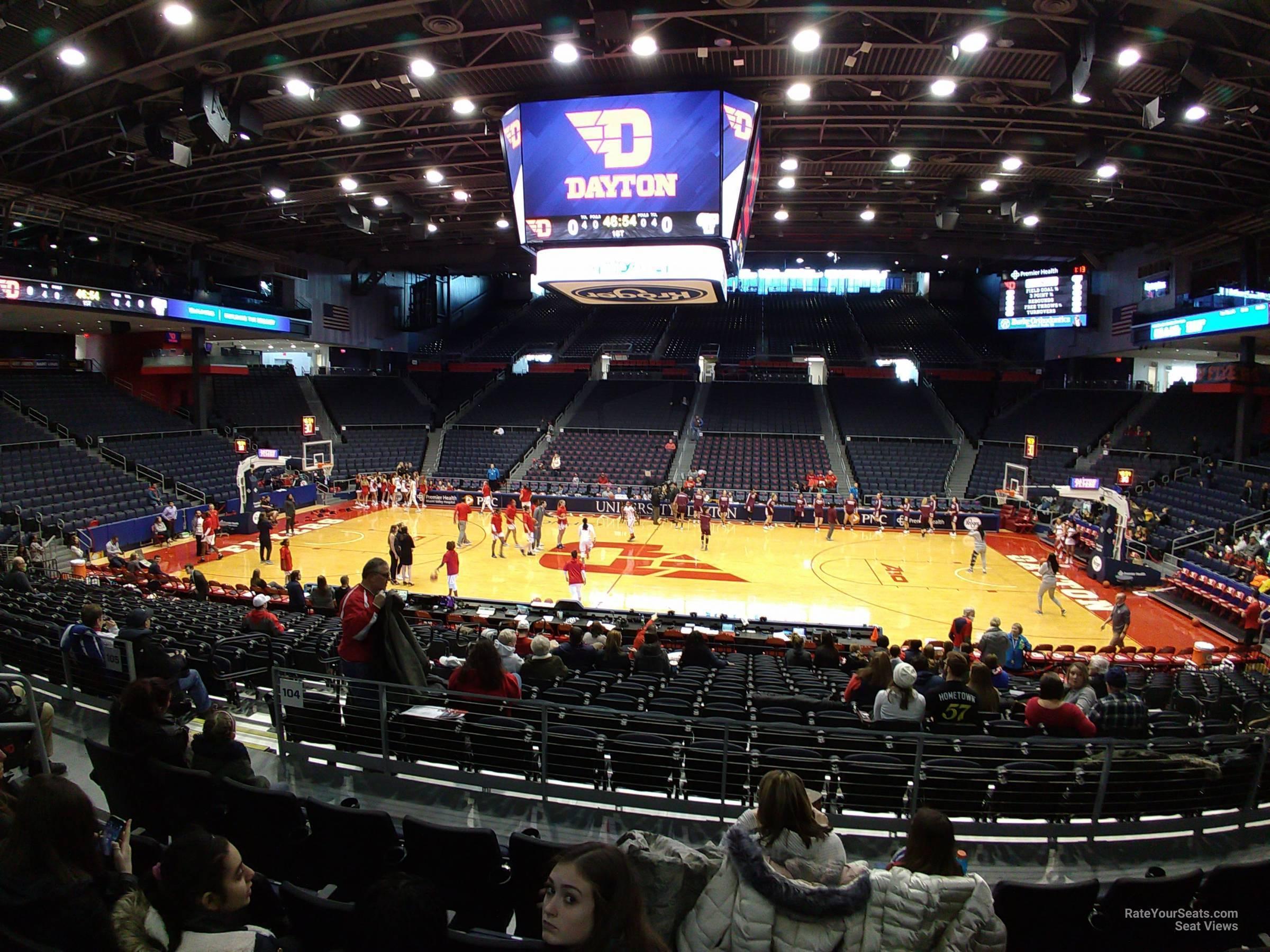 University Of Dayton Arena Section 206 Rateyourseatscom