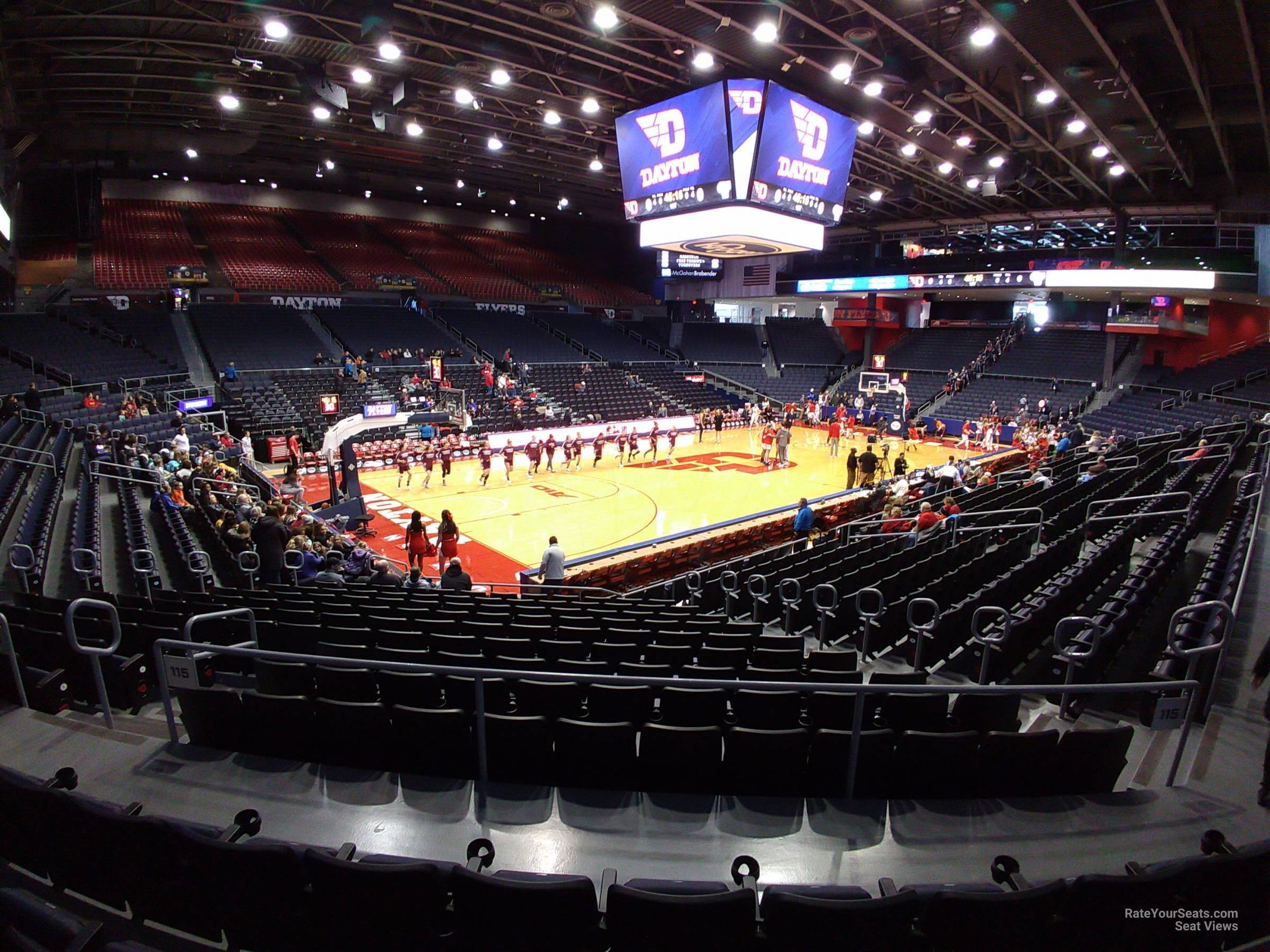 Seat View for University of Dayton Arena Section 221, Row D