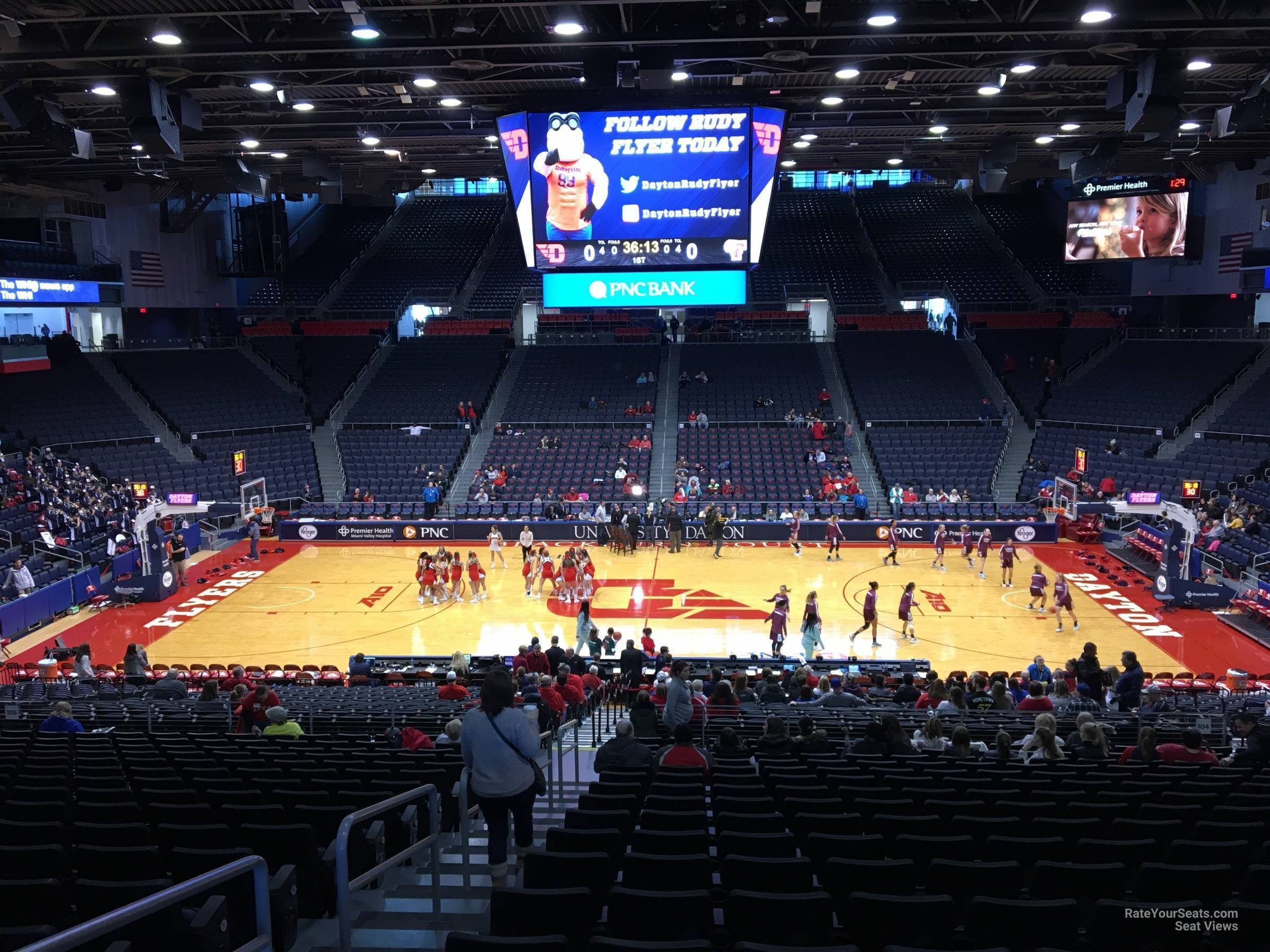 Seat View for University of Dayton Arena Section 304, Row A