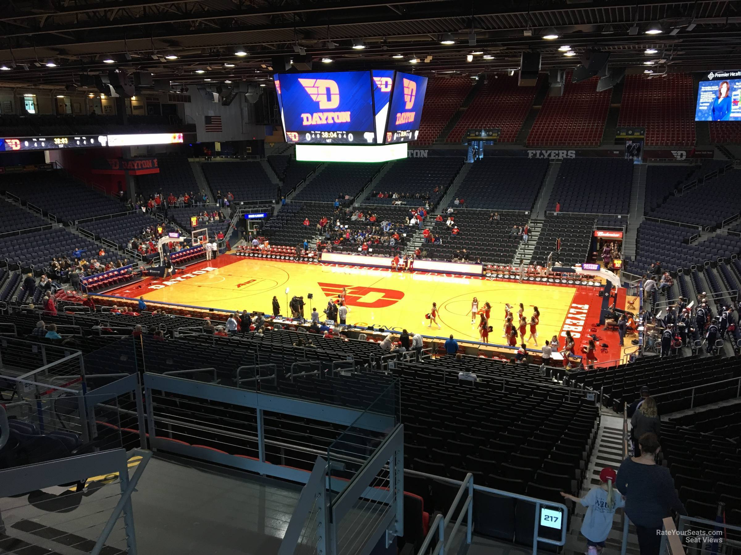 Seat View for University of Dayton Arena Section 309, Row E