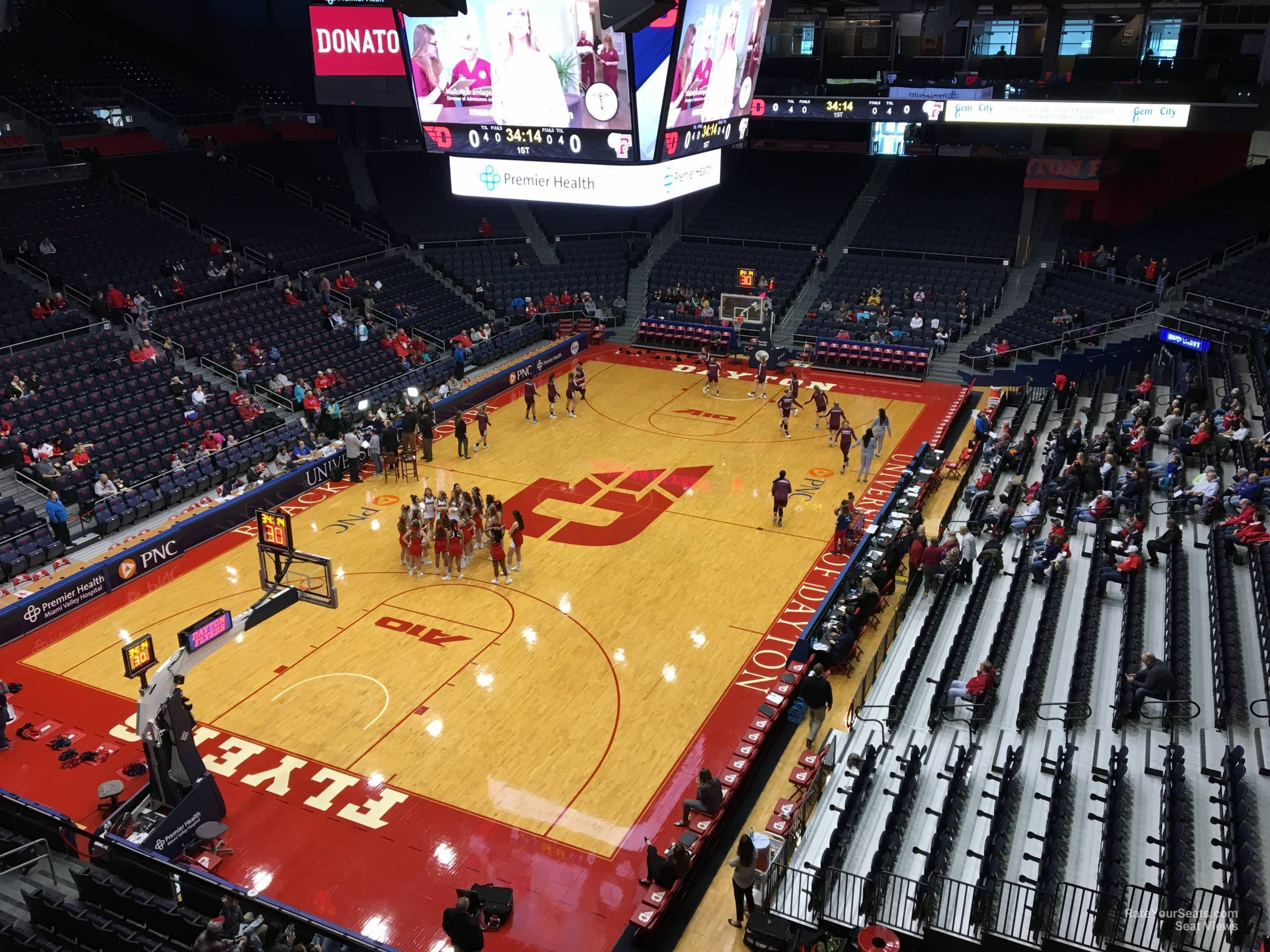 Seat View for University of Dayton Arena Section L2, Row RESERVED