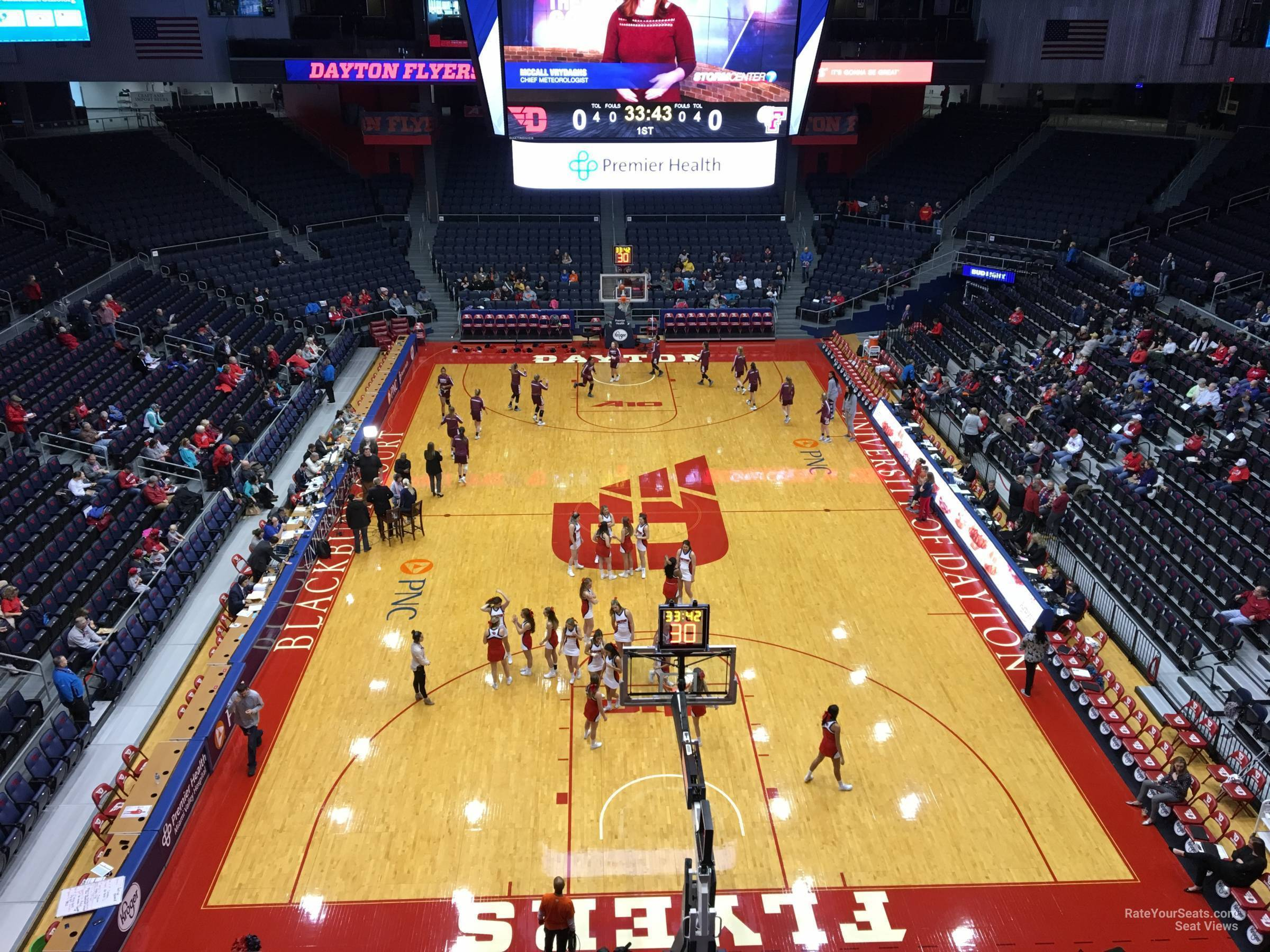Seat View for University of Dayton Arena Section L5, Row RESERVED