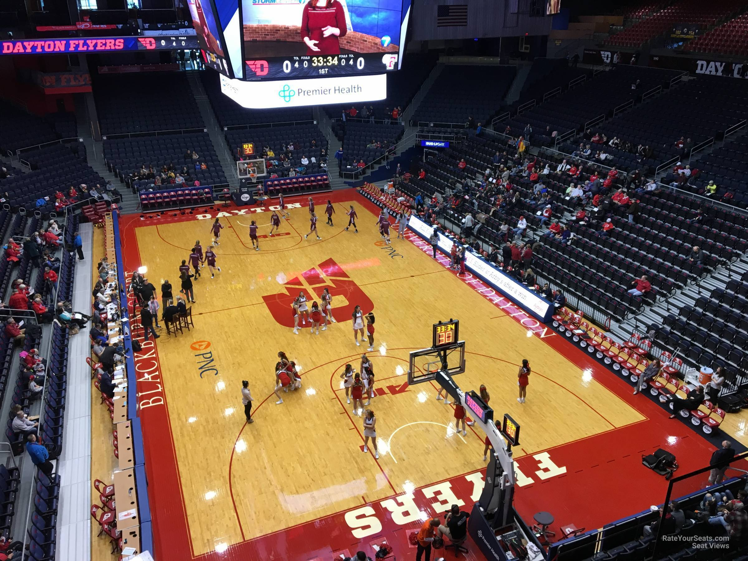Seat View for University of Dayton Arena Section L6, Row RESERVED