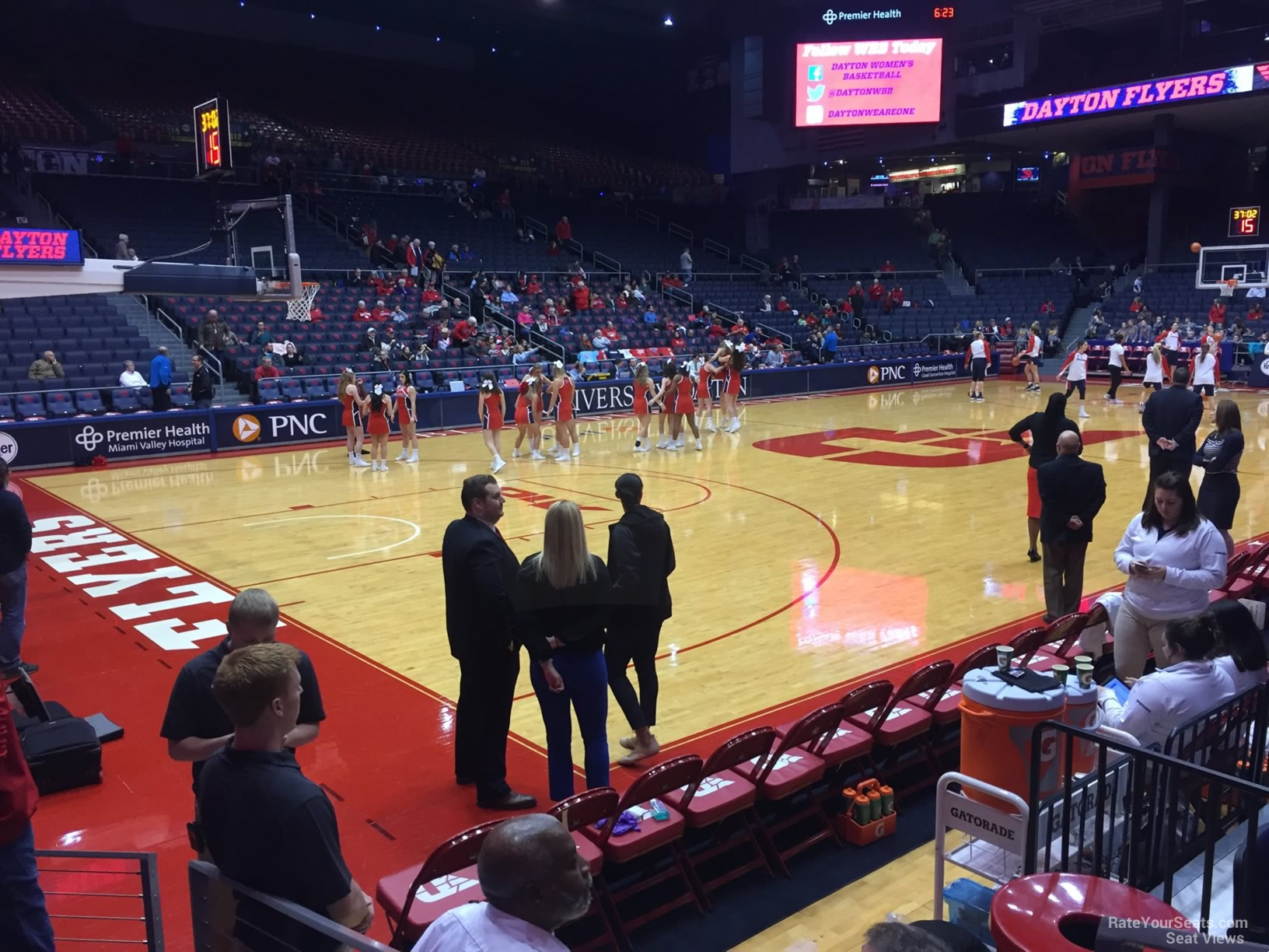 Seat View for University of Dayton Arena Section 107, Row E
