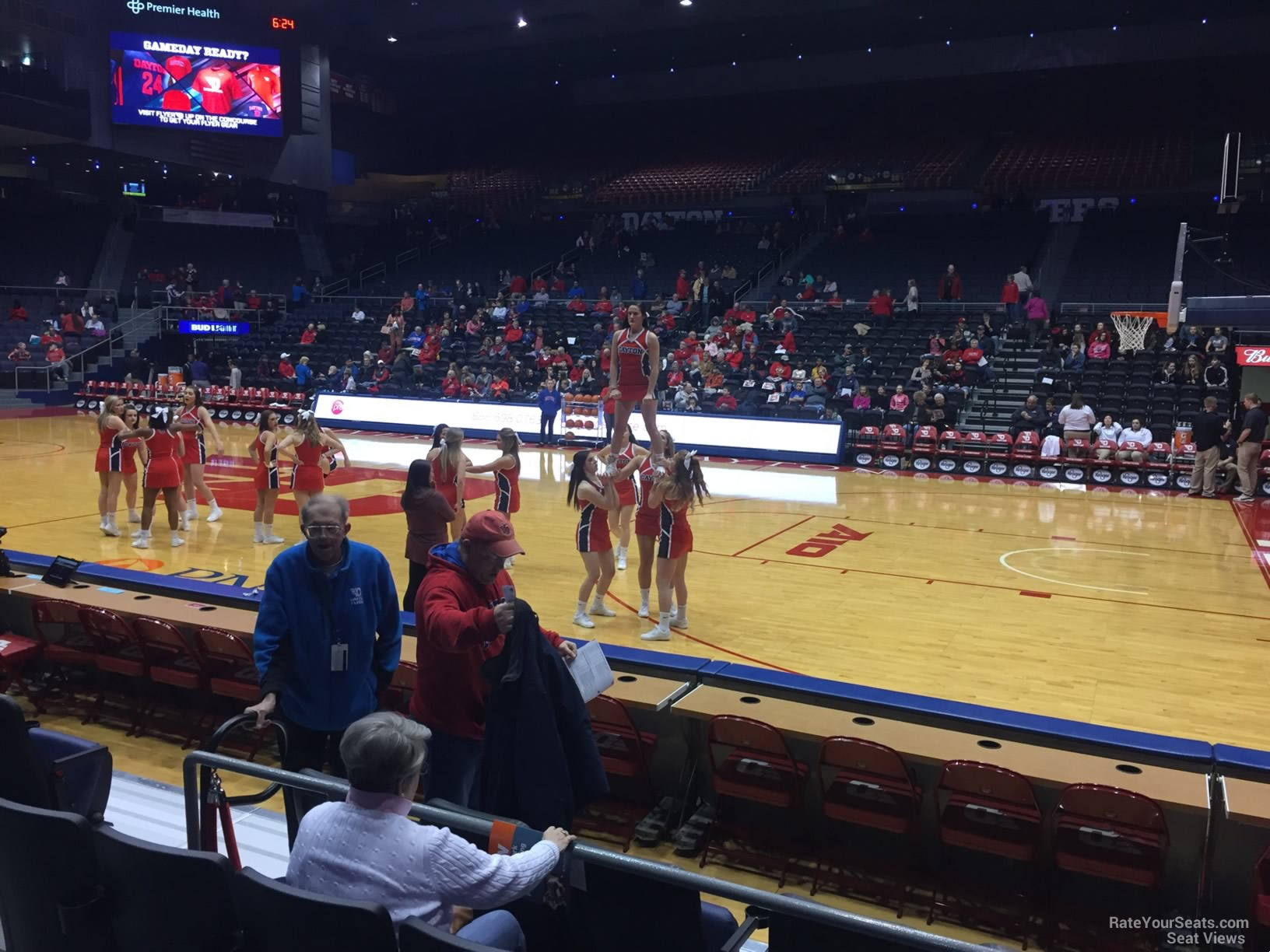Seat View for University of Dayton Arena Section 111, Row E
