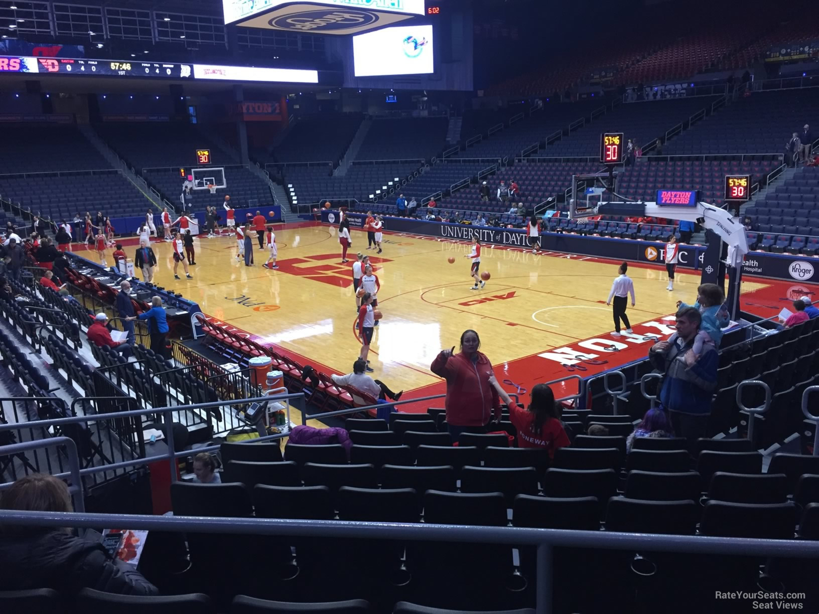 Seat View for University of Dayton Arena Section 202, Row B