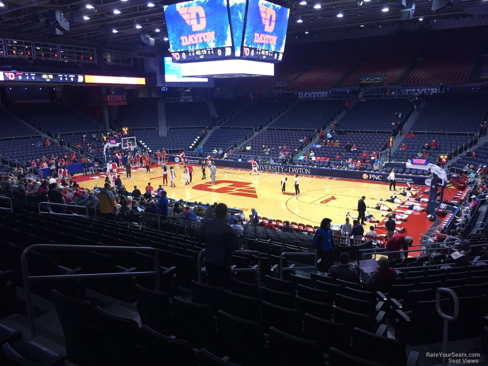 Seat View for University of Dayton Arena Section 204, Row L
