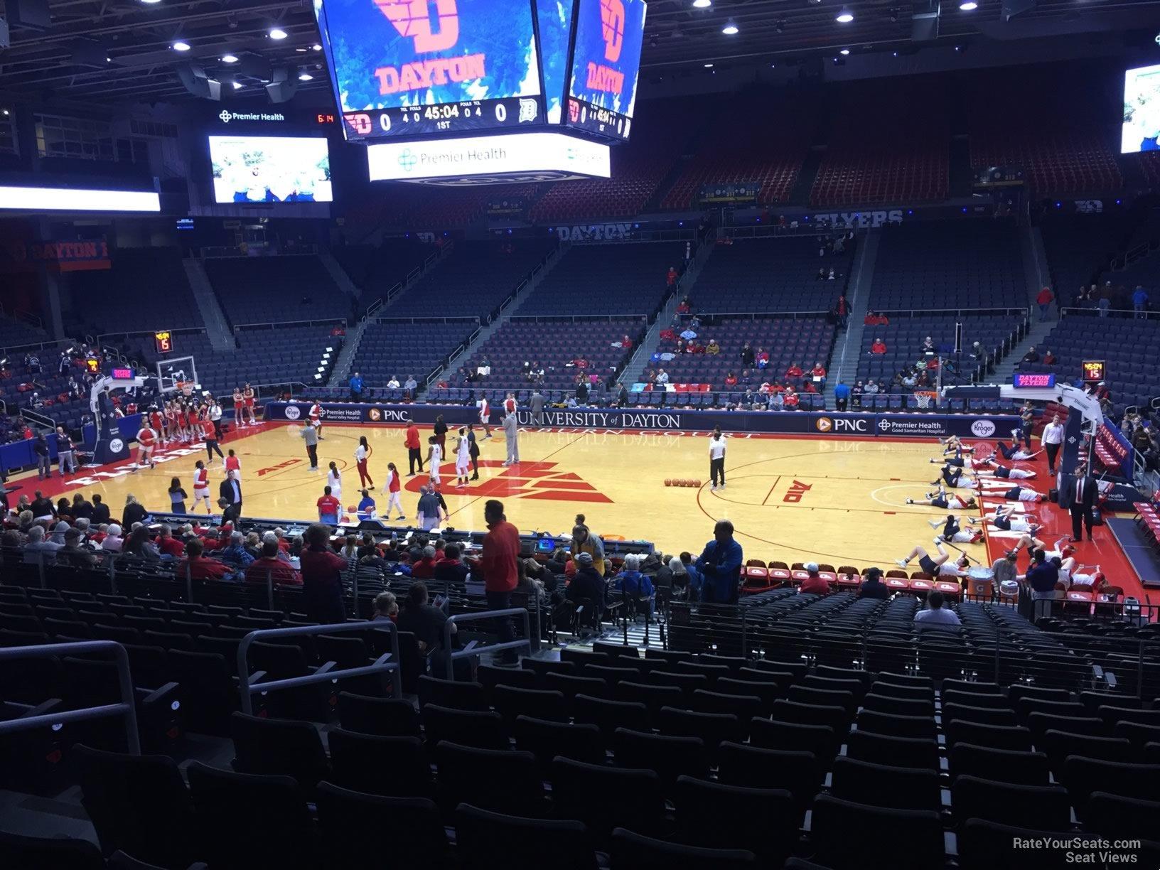University Of Dayton Arena Section 205 Rateyourseatscom