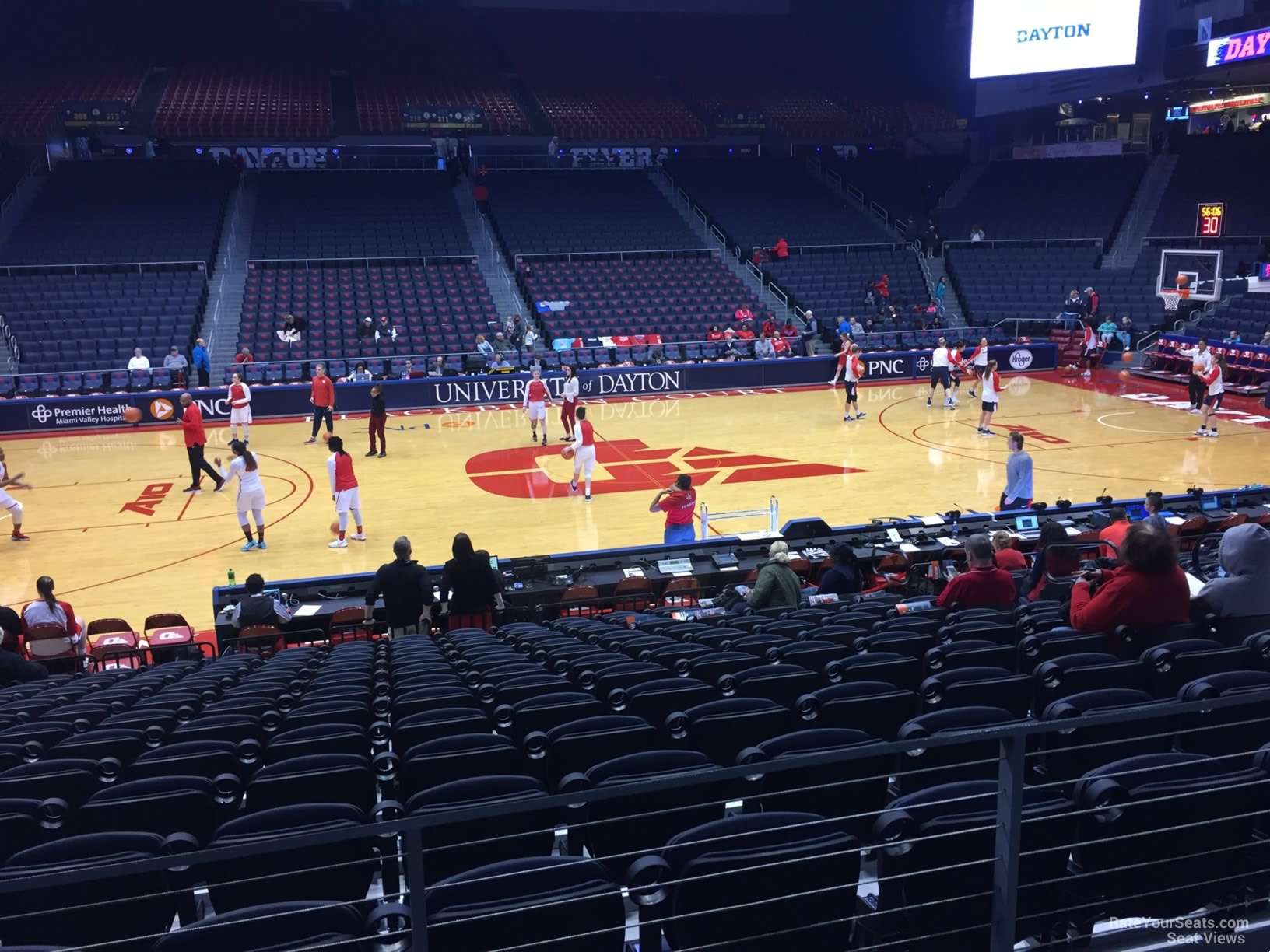 Seat View For University Of Dayton Arena Section 207