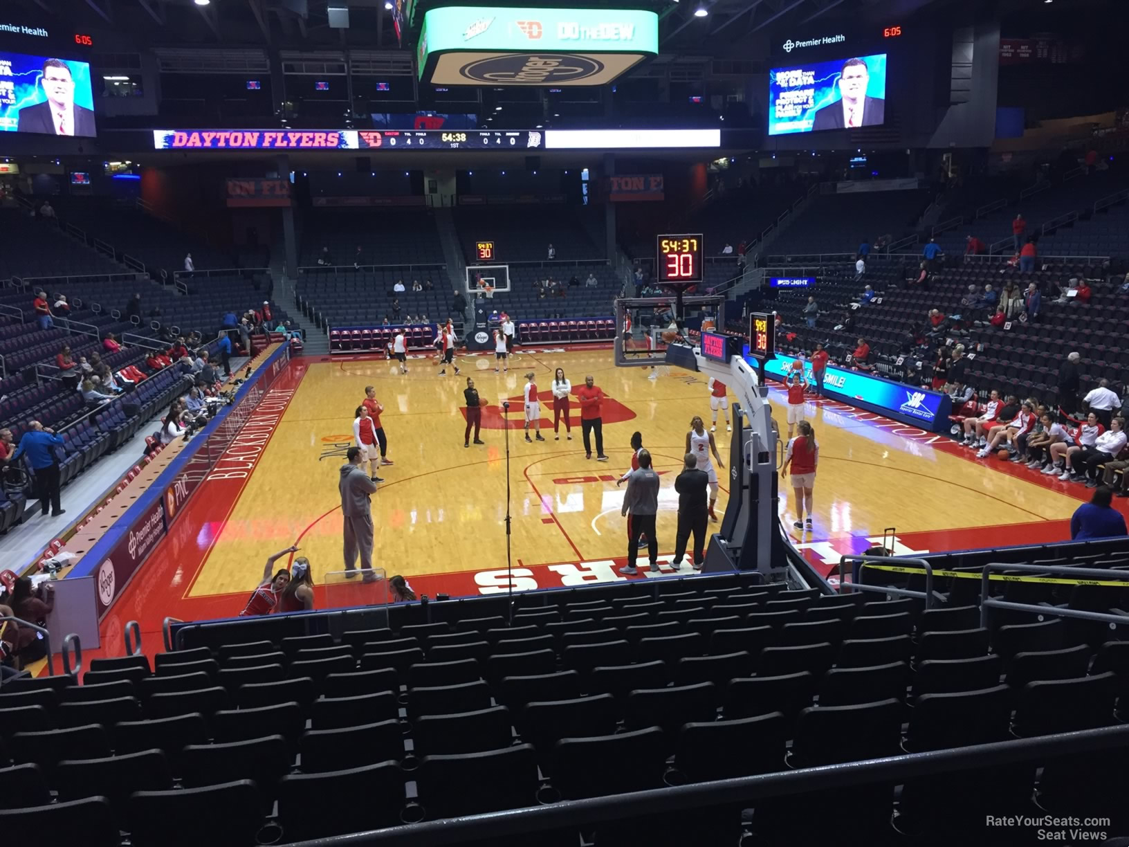 Seat View for University of Dayton Arena Section 213, Row B