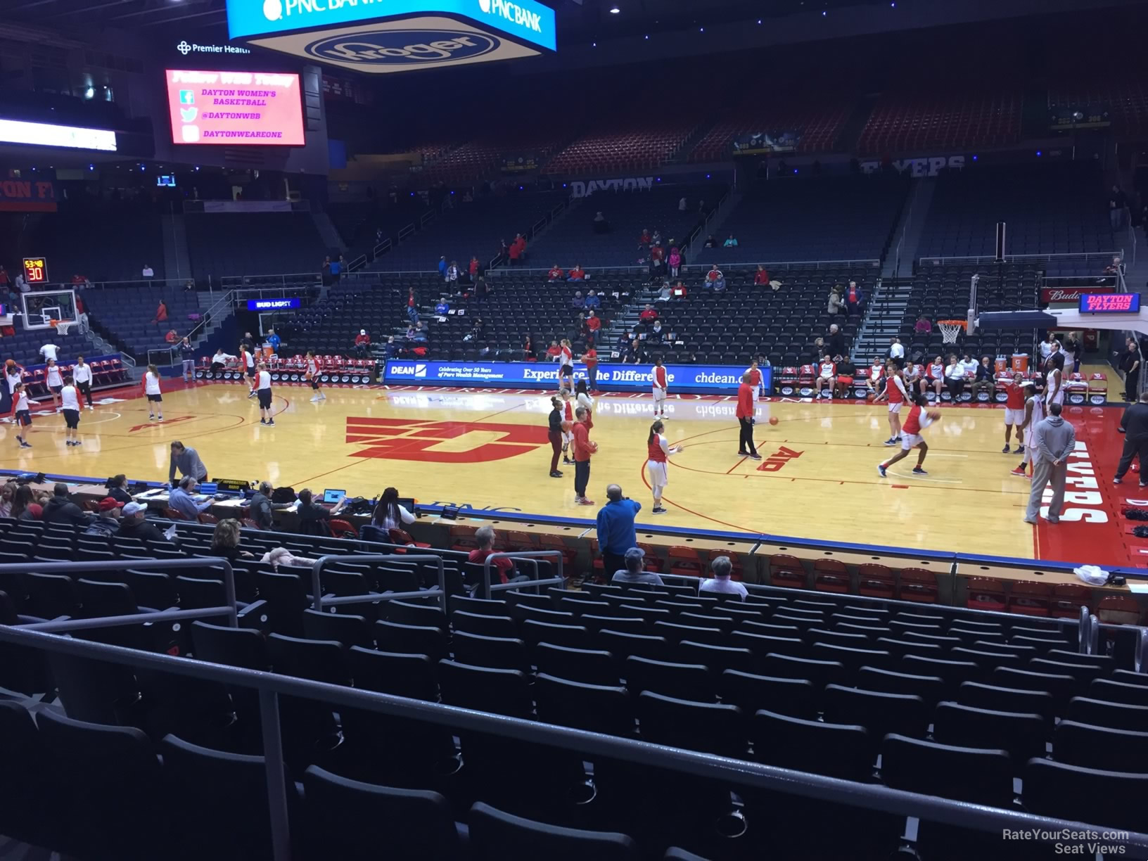 Seat View for University of Dayton Arena Section 217, Row B