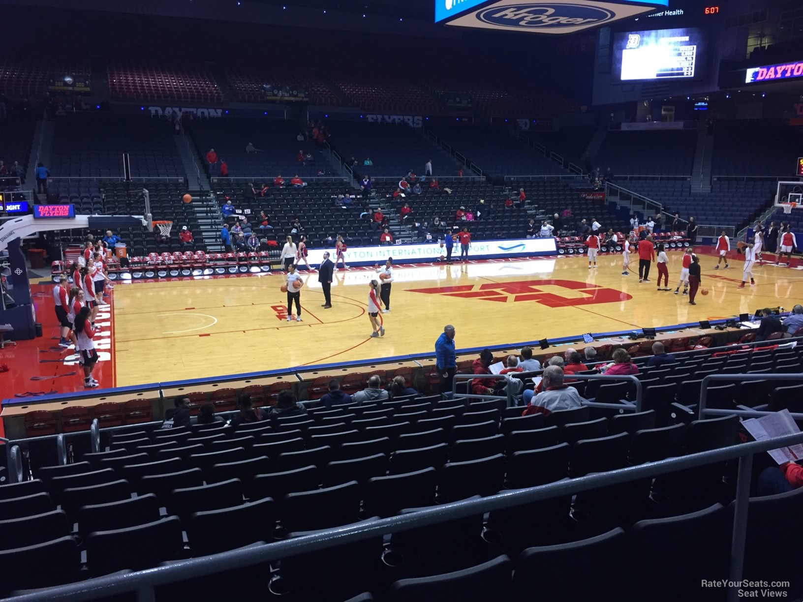 Seat View for University of Dayton Arena Section 220, Row B