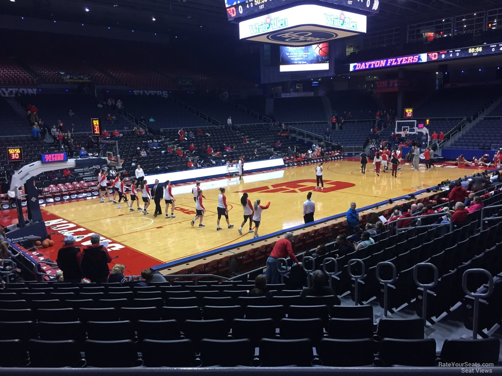 Seat View for University of Dayton Arena Section 222, Row B
