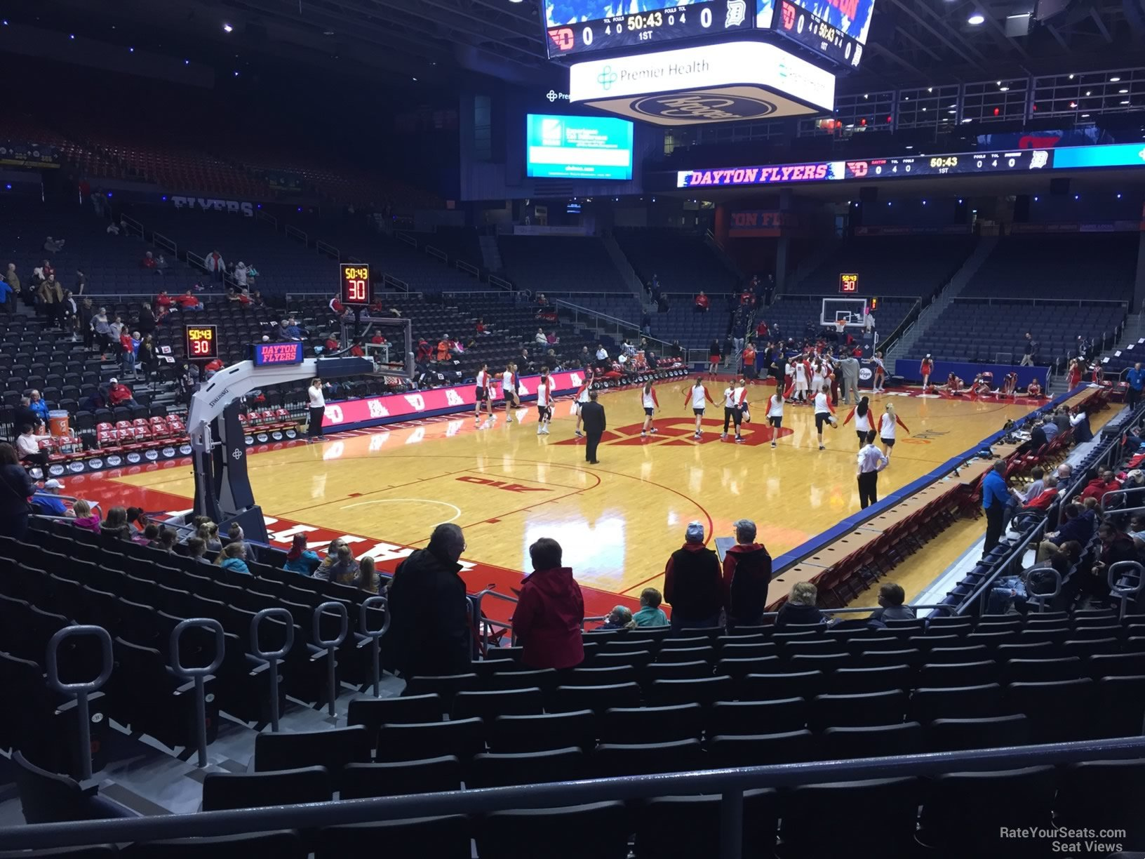 Seat View for University of Dayton Arena Section 223, Row B