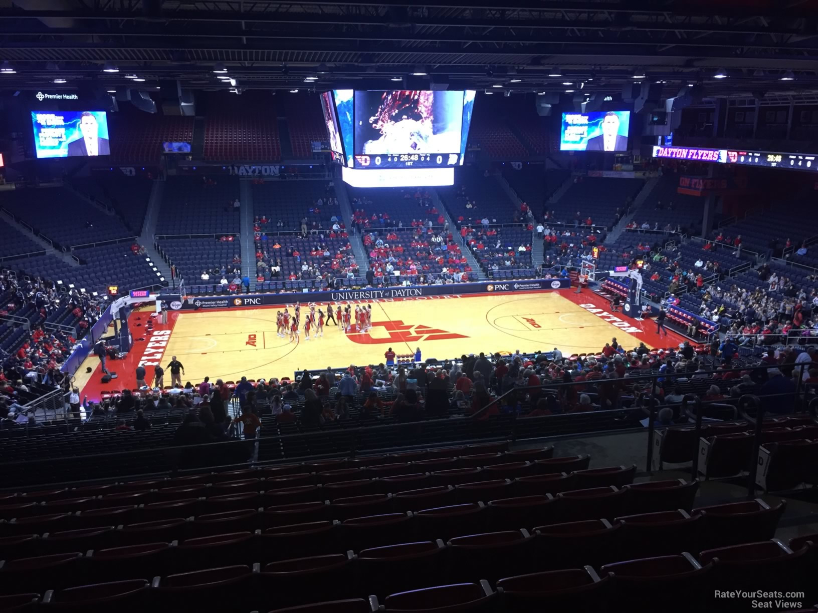 Seat View for University of Dayton Arena Section 305, Row K