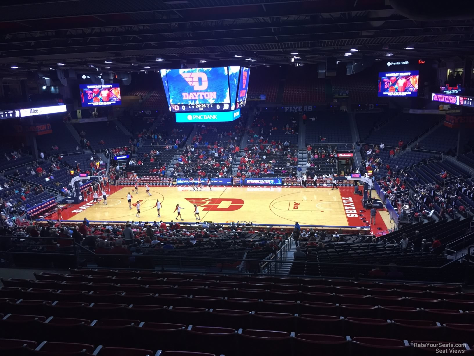 Seat View for University of Dayton Arena Section 310, Row K