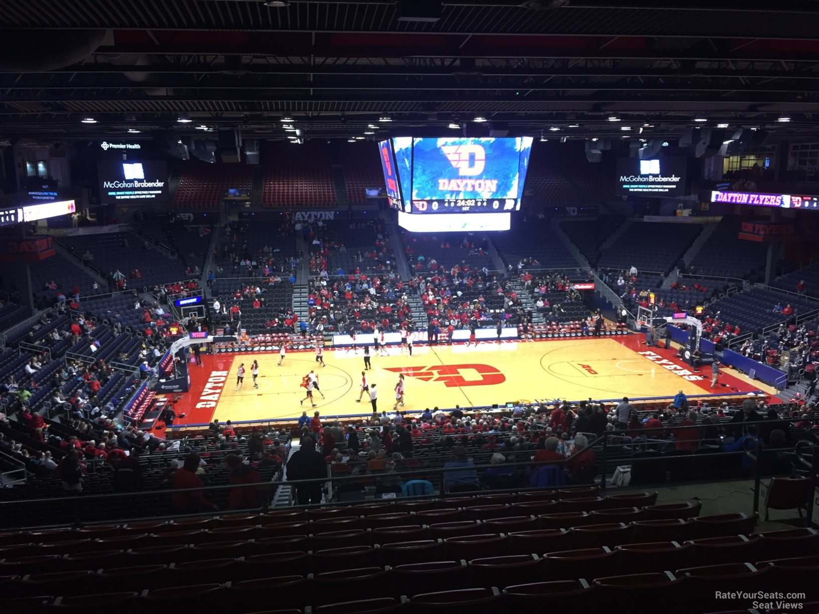 Seat View for University of Dayton Arena Section 312, Row K