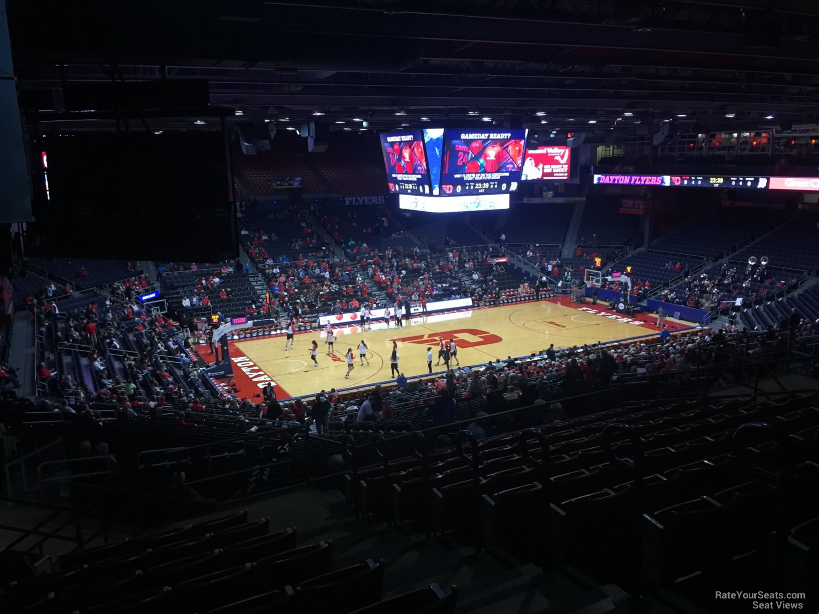 Seat View for University of Dayton Arena Section 314, Row K
