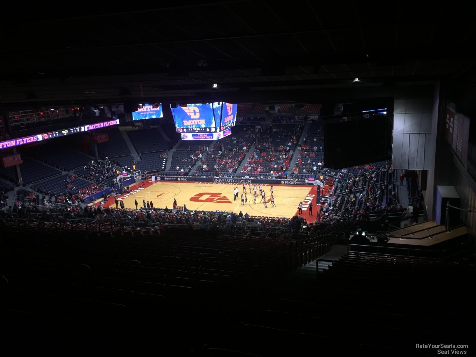 Seat View for University of Dayton Arena Section 401, Row J
