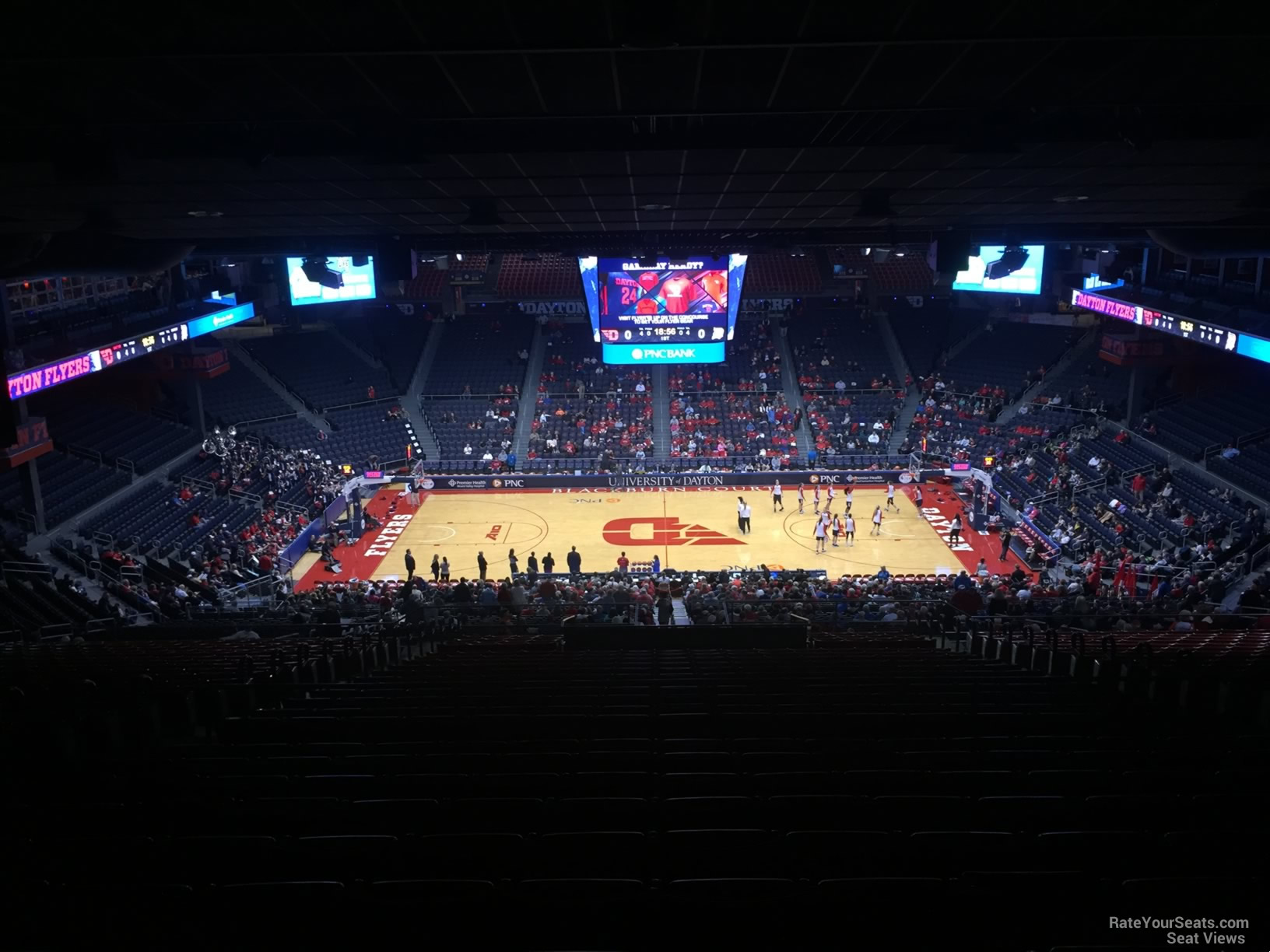 Seat View for University of Dayton Arena Section 404, Row J