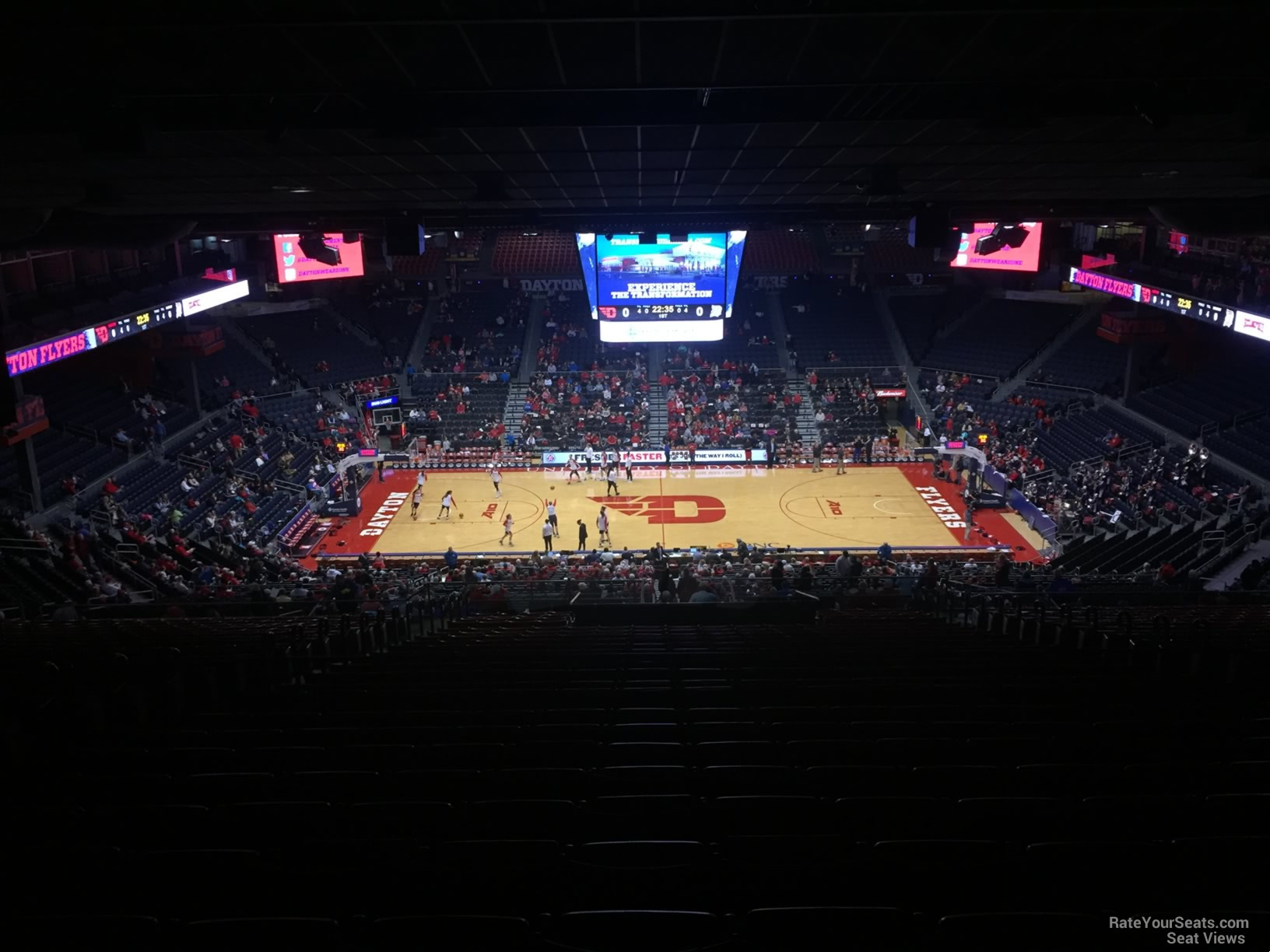 Seat View for University of Dayton Arena Section 411, Row J