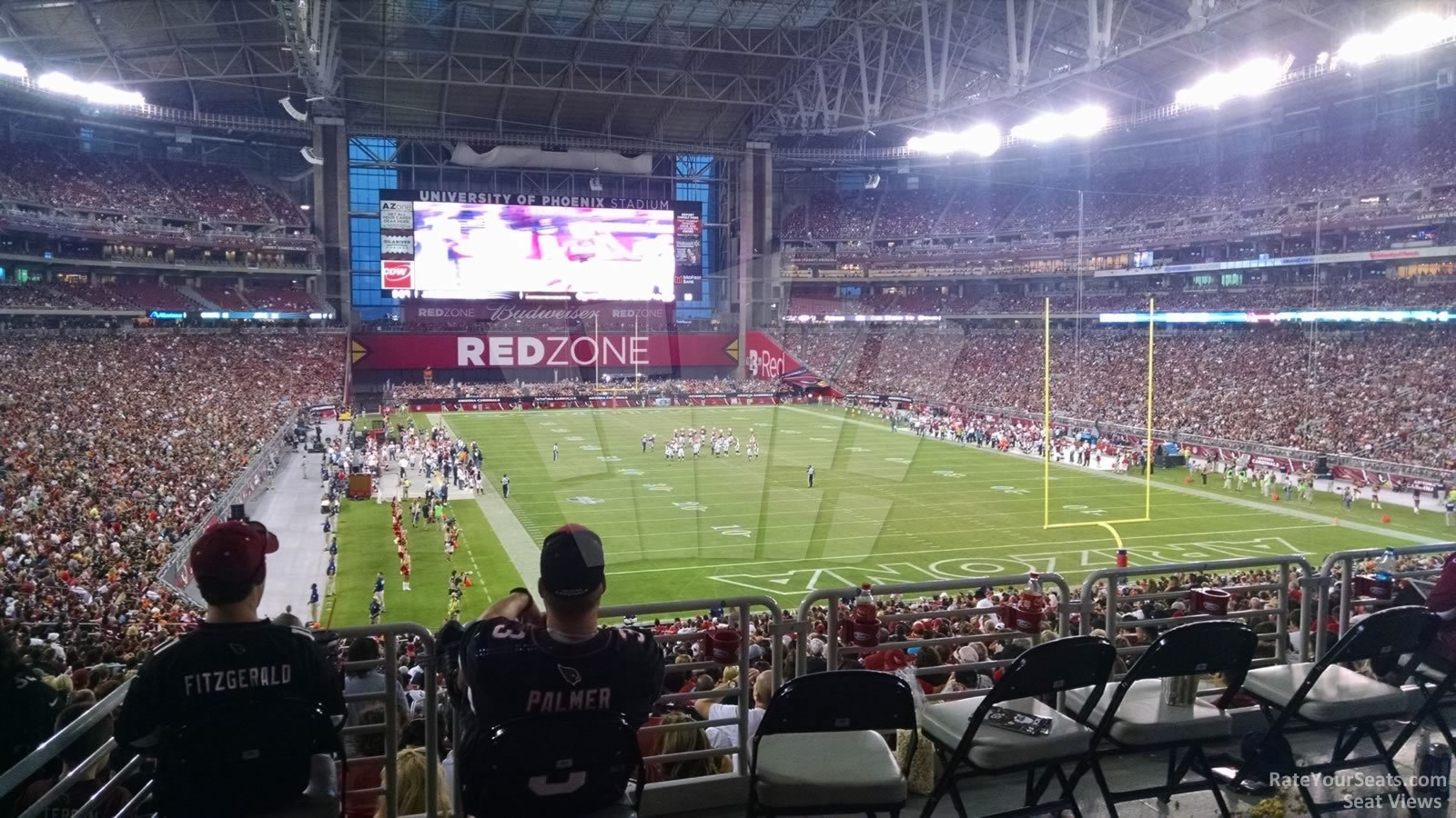 View from the Handicap seating area in Section 122