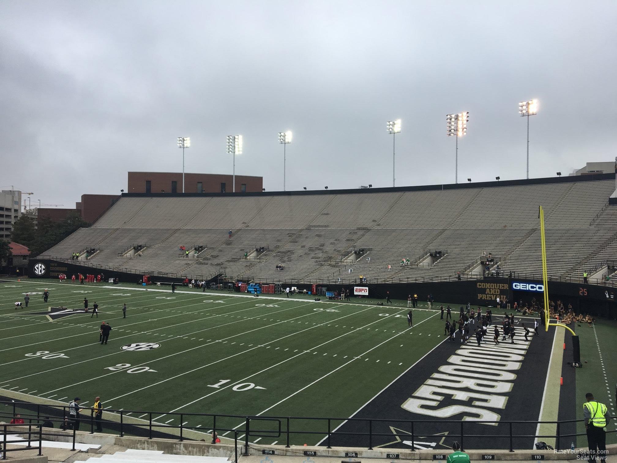 fadb09ed Vanderbilt Stadium Section H - RateYourSeats.com