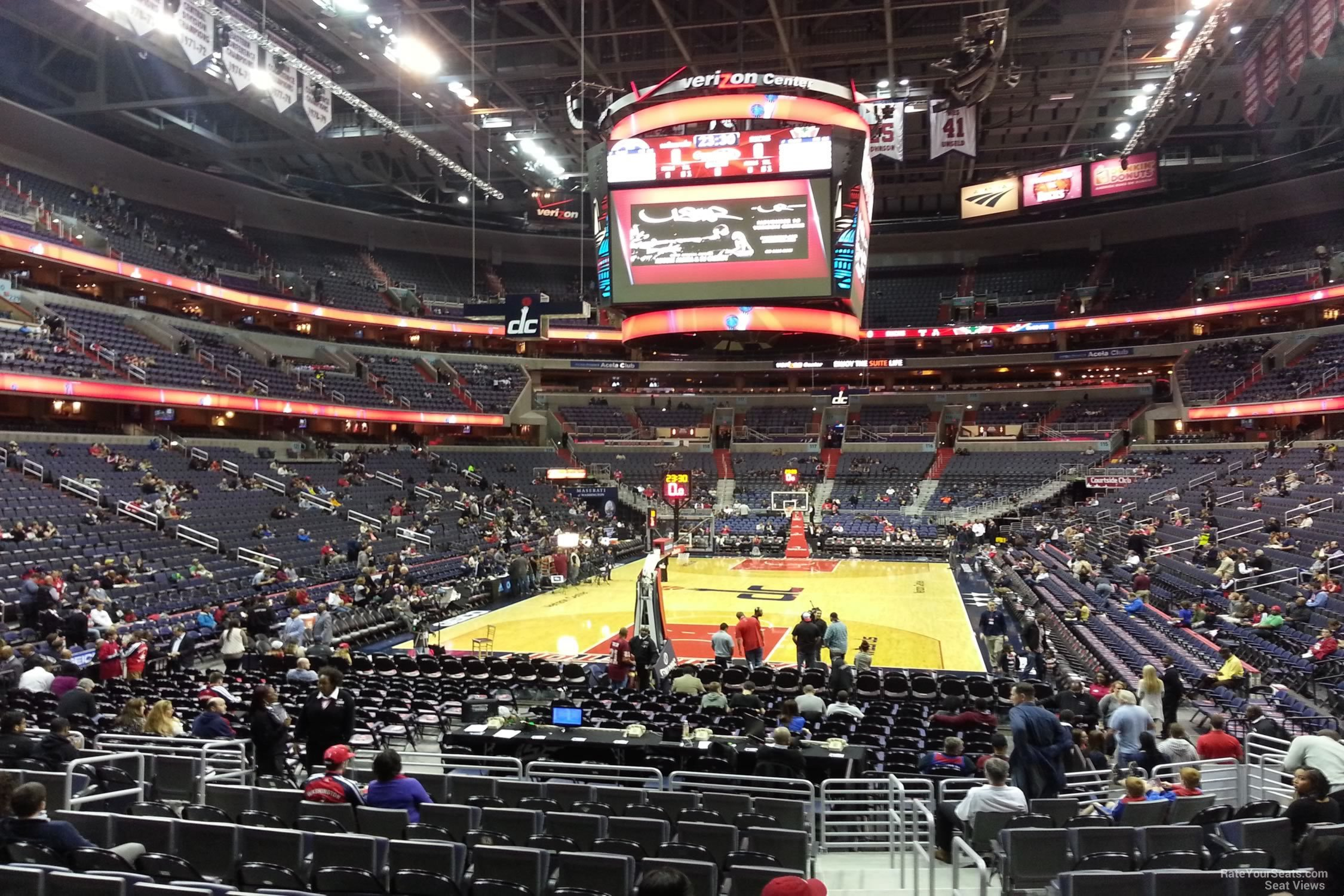 Basketball Seat View for Capital One Arena Section 106, Row N