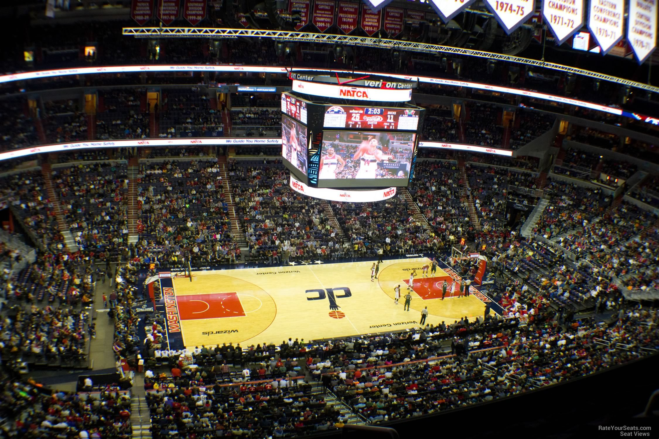 Basketball Seat View for Capital One Arena Section 432, Row F