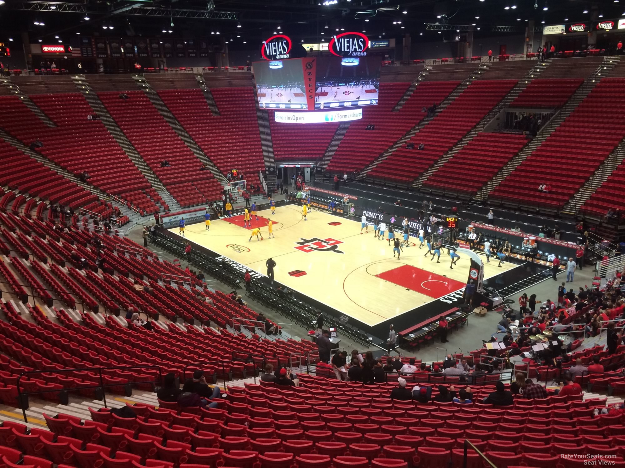 Seat View for Viejas Arena Section J, Row 30